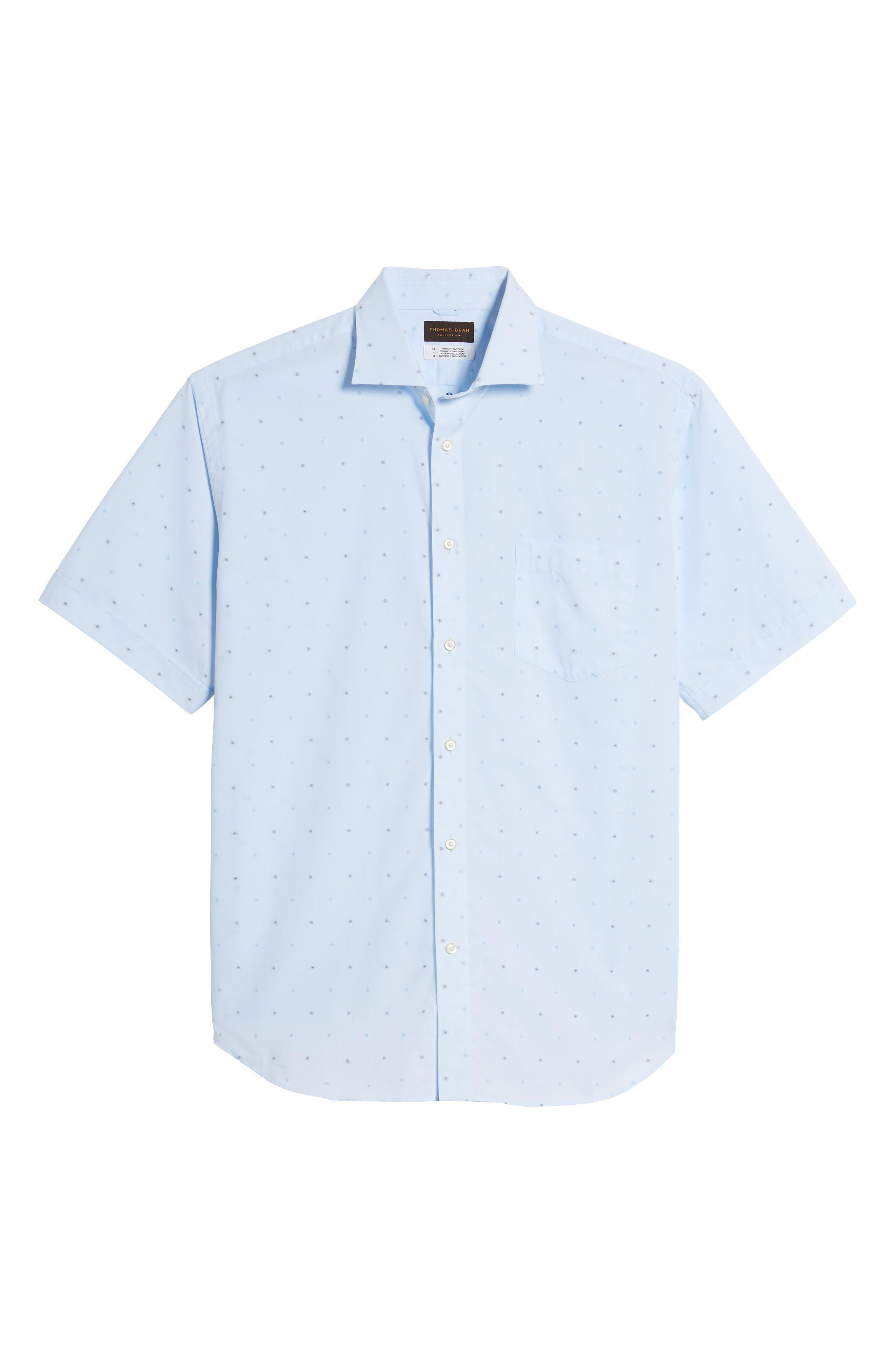 Regular Fit Dot Sport Shirt,                             Alternate thumbnail 6, color,
