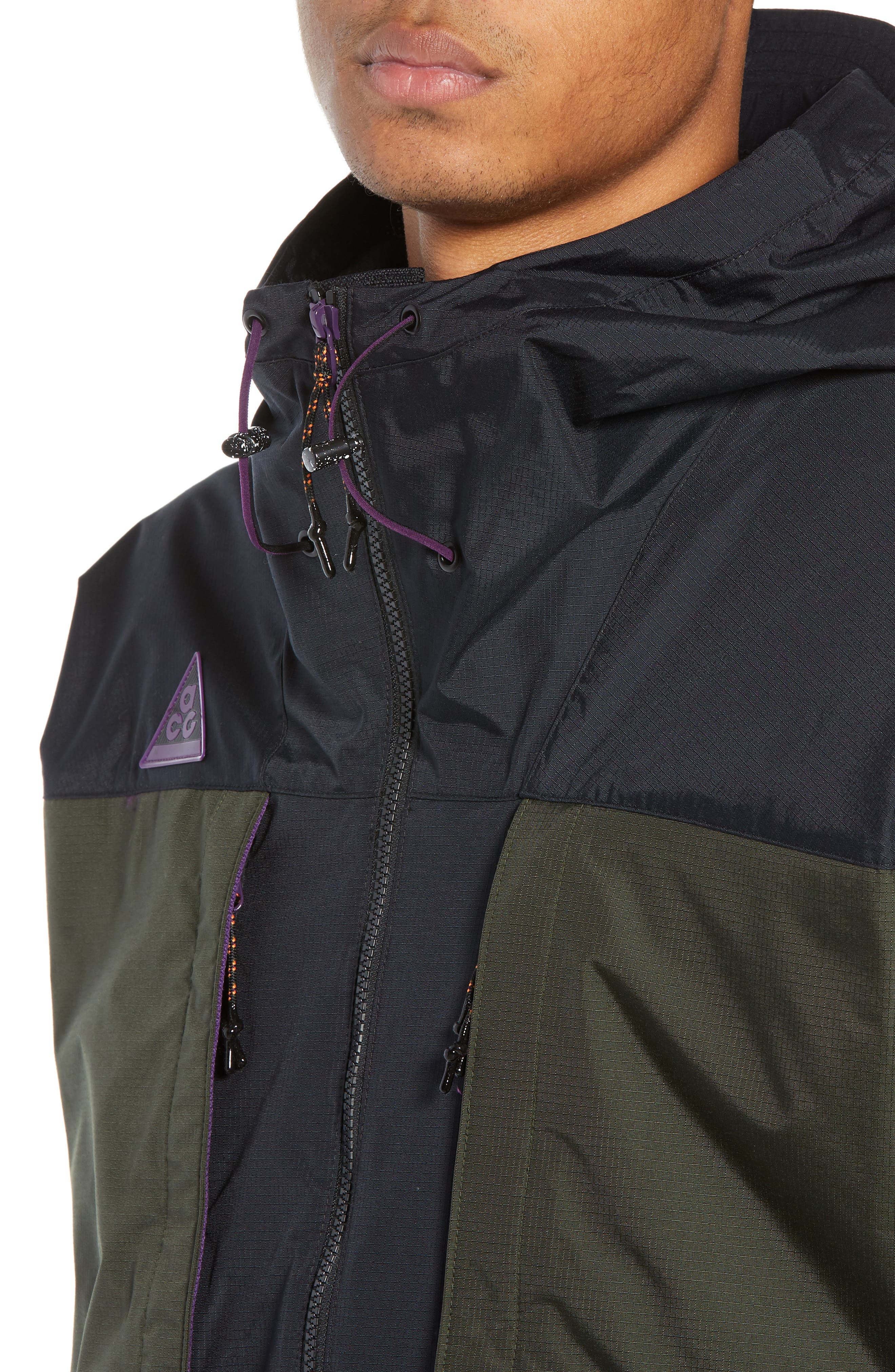 ACG Men's Anorak Jacket,                             Alternate thumbnail 4, color,                             BLACK/ SEQUOIA/ BLACK