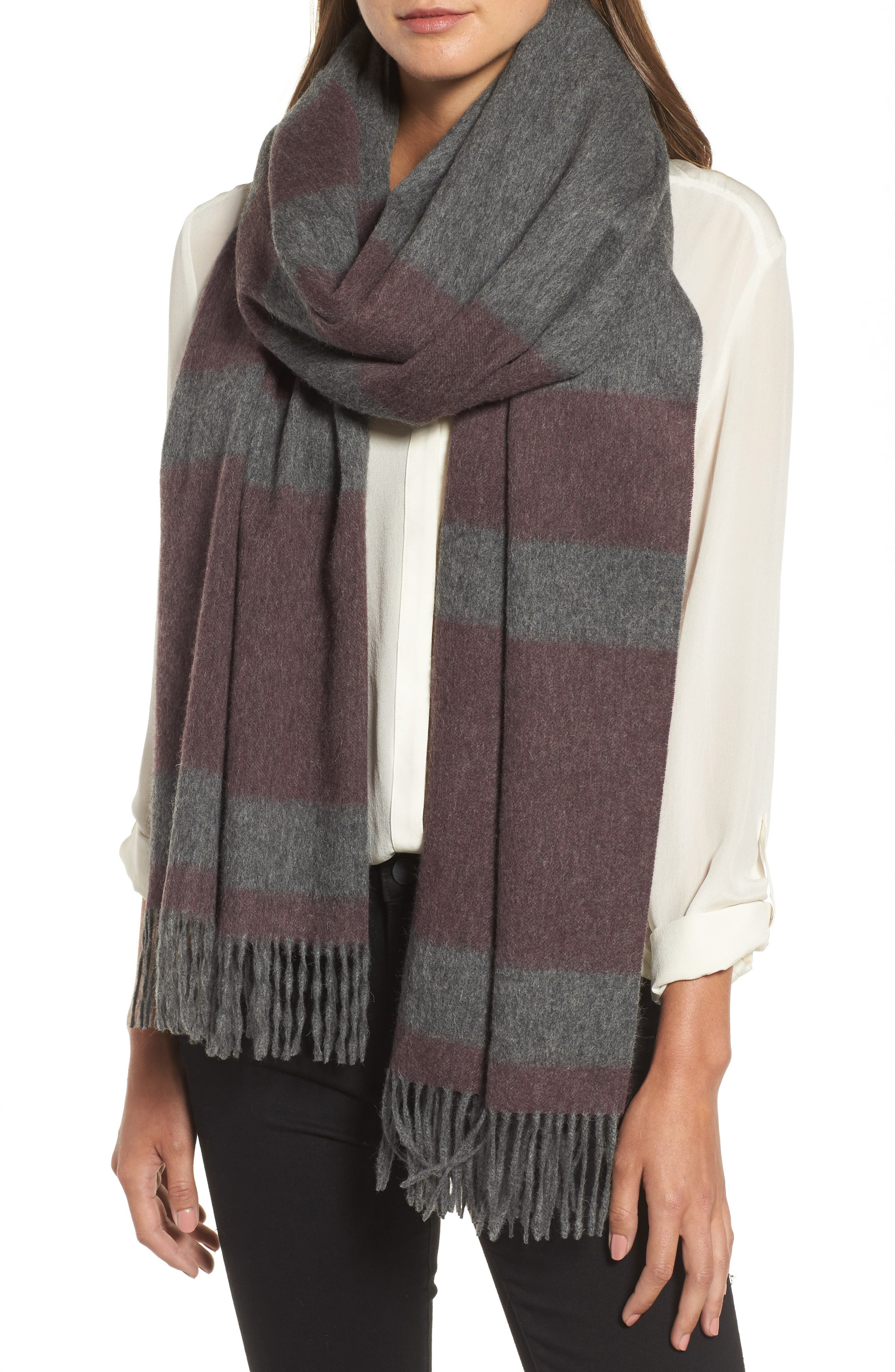 Lazio Stripe Wool Scarf,                             Main thumbnail 2, color,