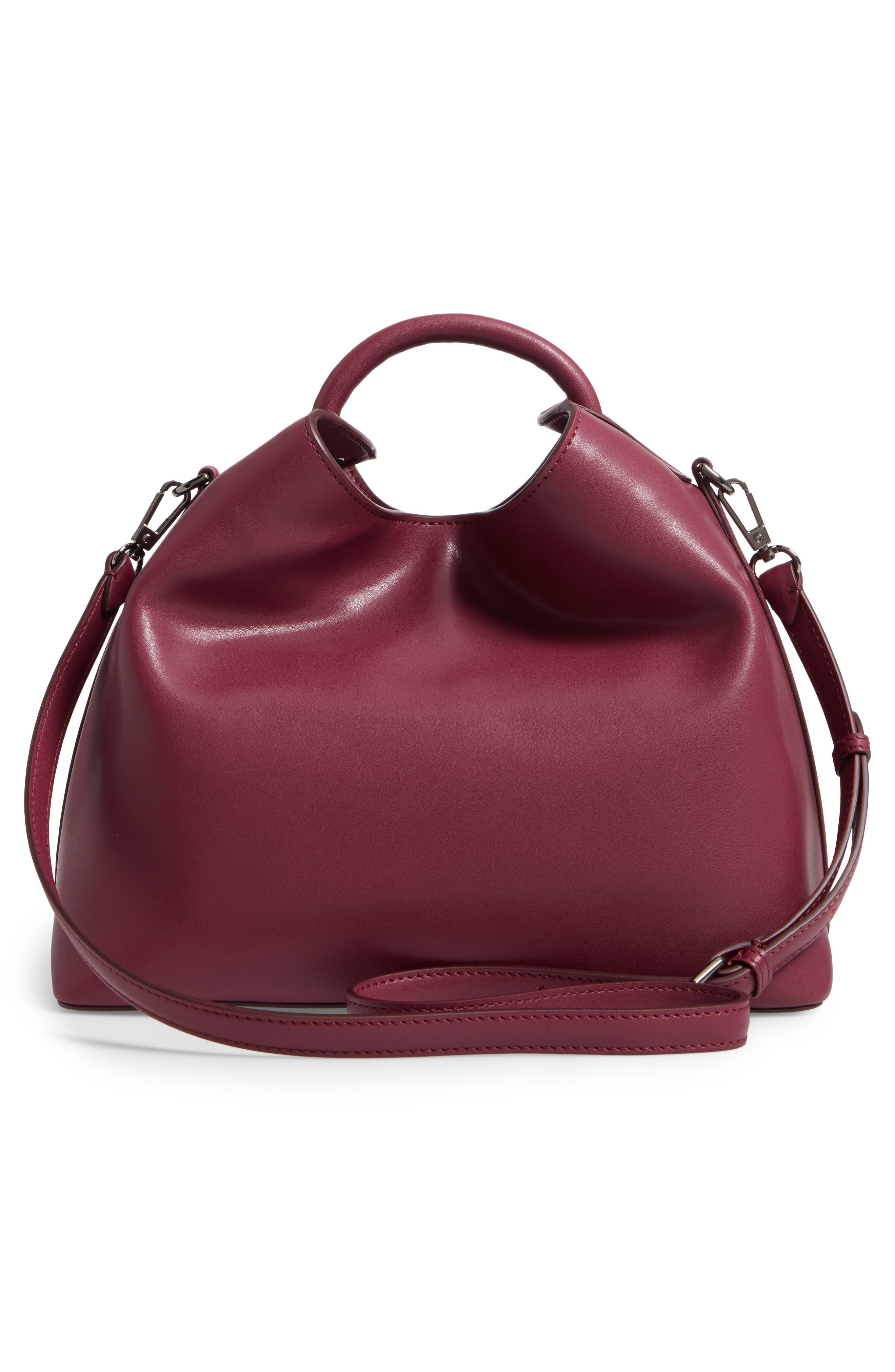 Raisin Leather Handbag,                             Alternate thumbnail 24, color,