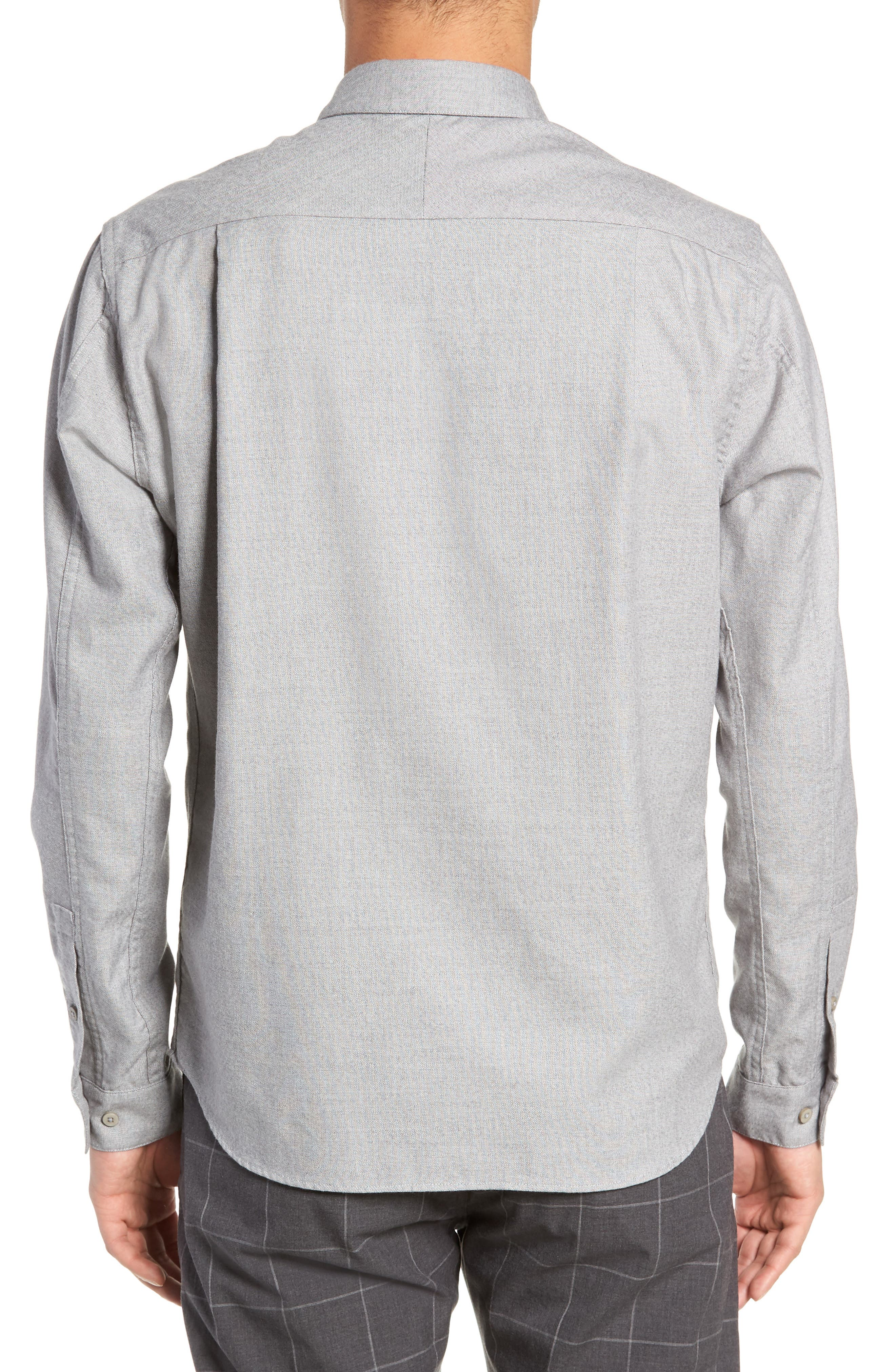 Officer Sport Shirt,                             Alternate thumbnail 3, color,                             MEDIUM GREY