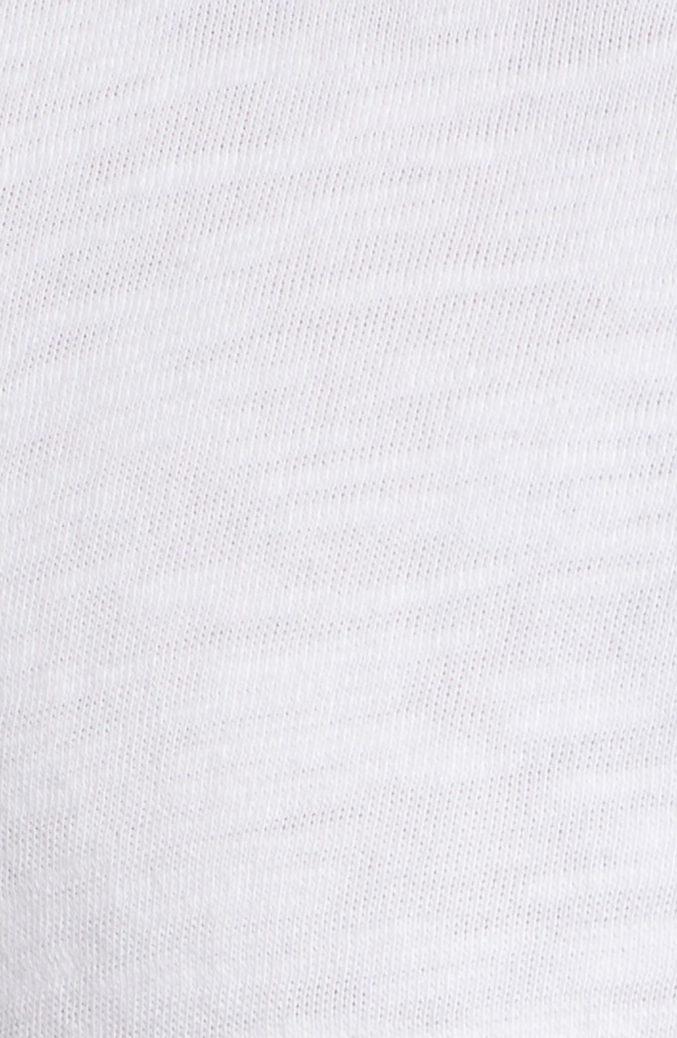 Slub Cotton Henley,                             Alternate thumbnail 5, color,                             WHITE