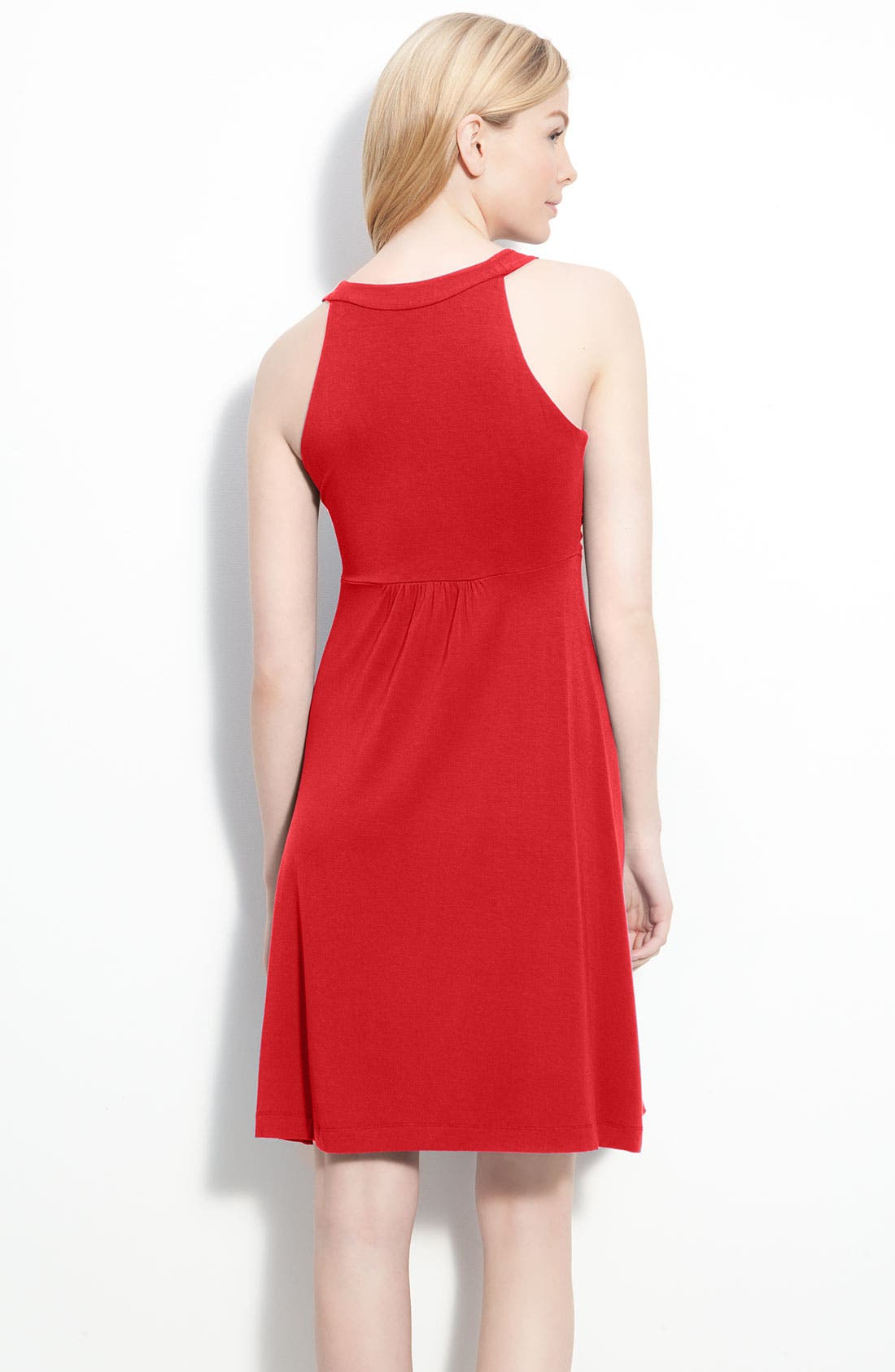 Ruched Bodice Jersey Dress,                             Alternate thumbnail 4, color,