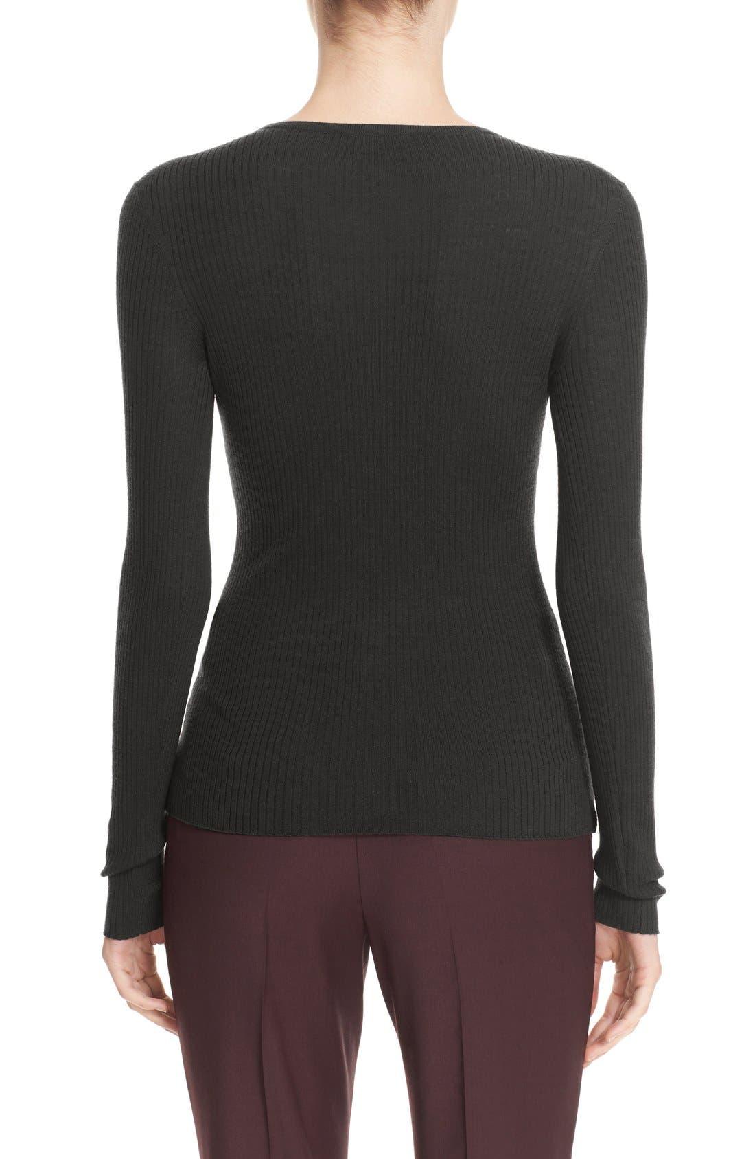'Mirzi' Rib Knit Merino Wool Sweater,                             Alternate thumbnail 3, color,                             363