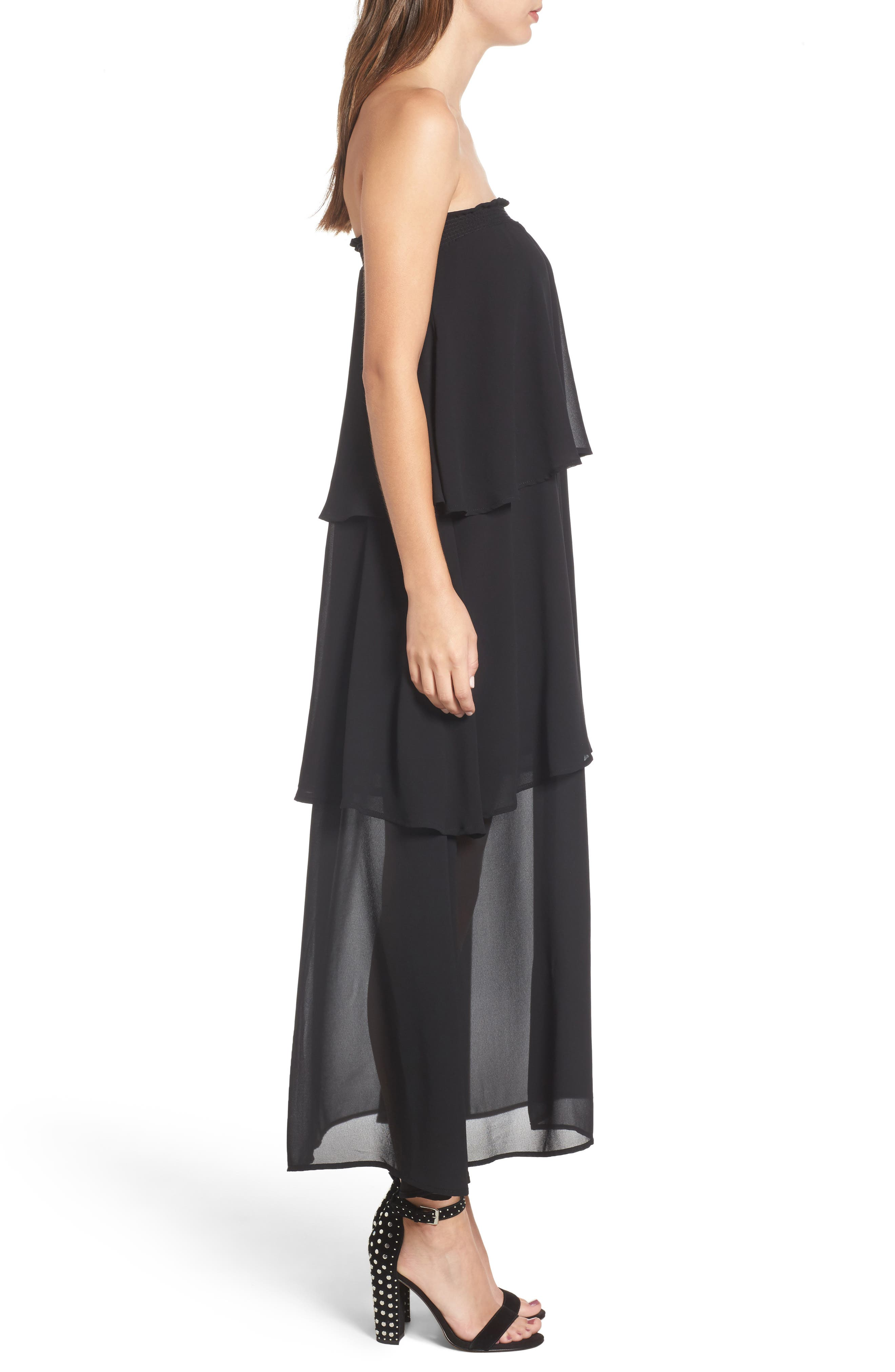 Karla Convertible Strapless Dress,                             Alternate thumbnail 7, color,