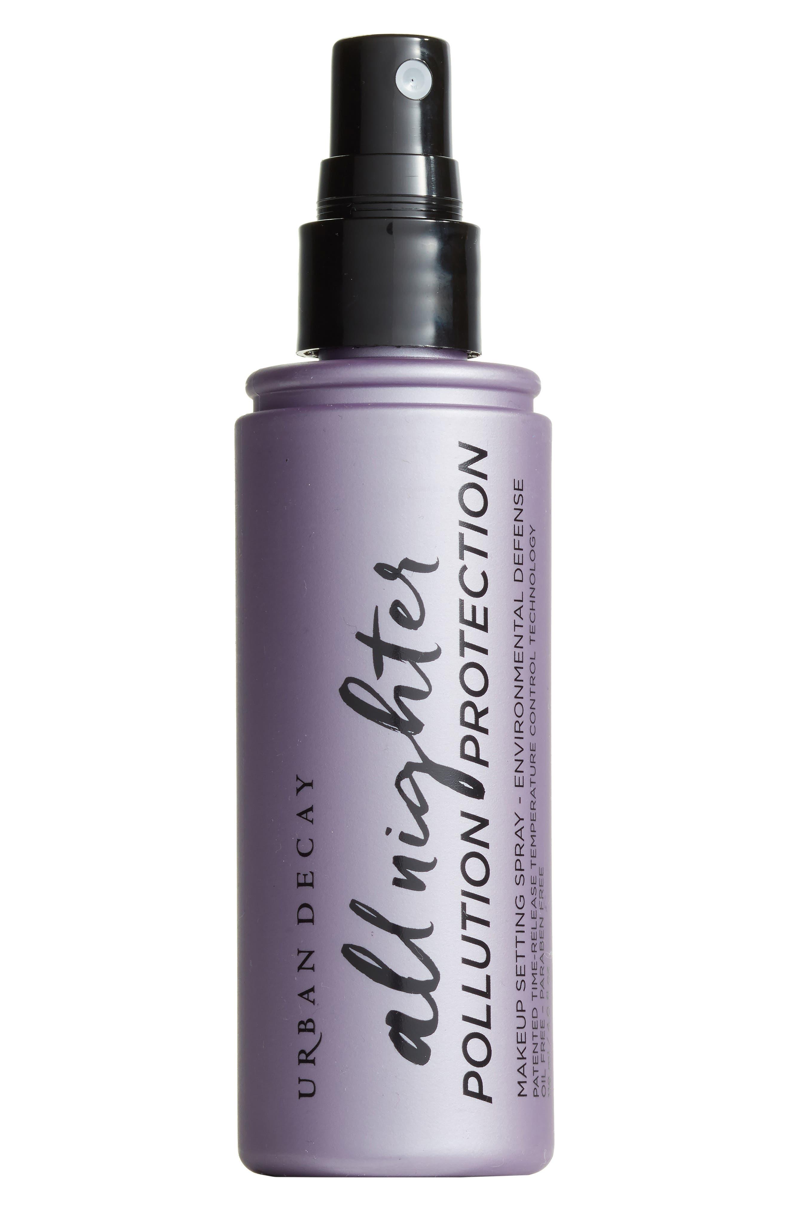 All Nighter Pollution Protection Environmental Defense Makeup Setting Spray,                             Main thumbnail 1, color,                             NO COLOR