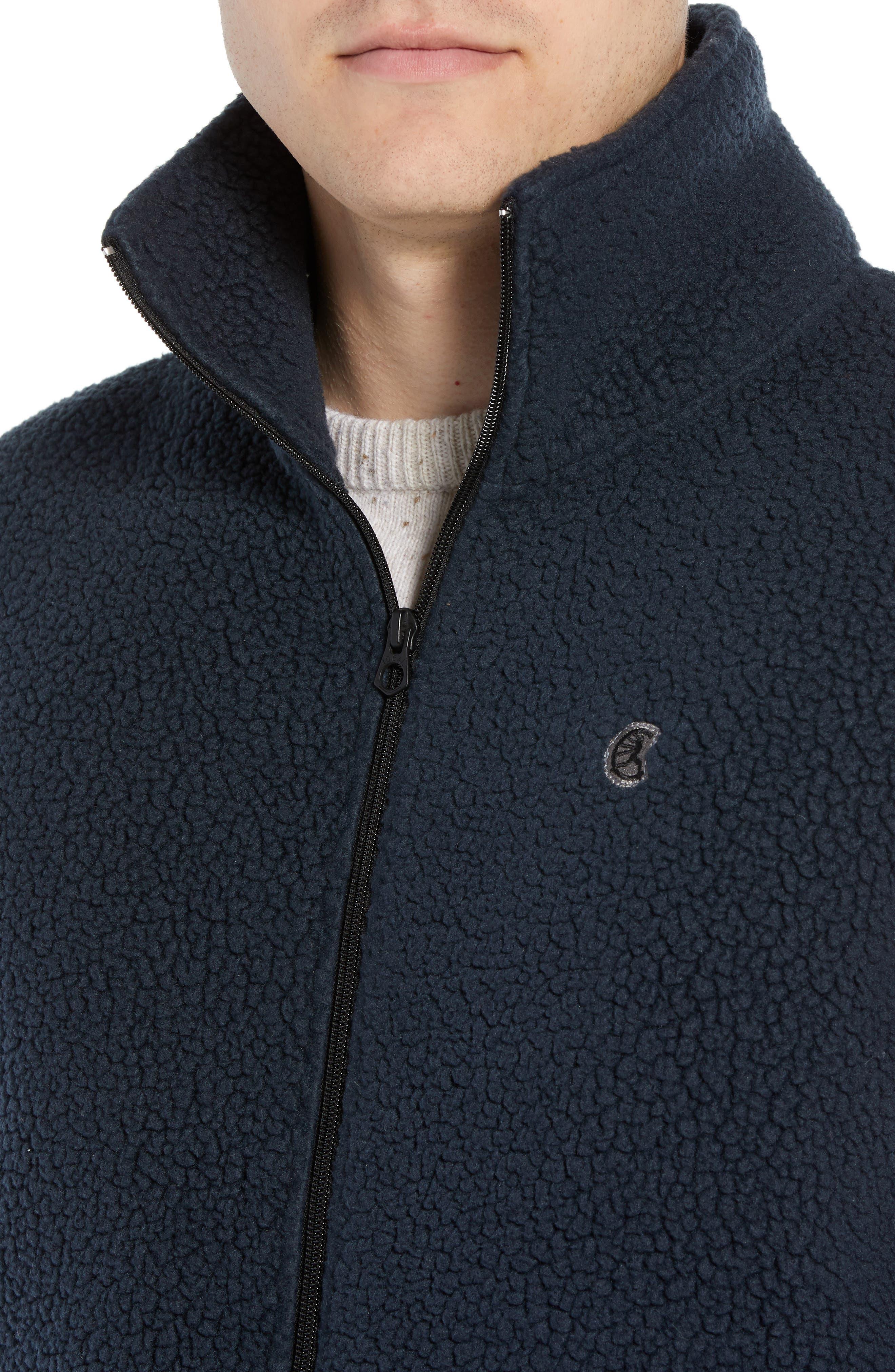 Fleece Zip Vest,                             Alternate thumbnail 4, color,                             NAVY