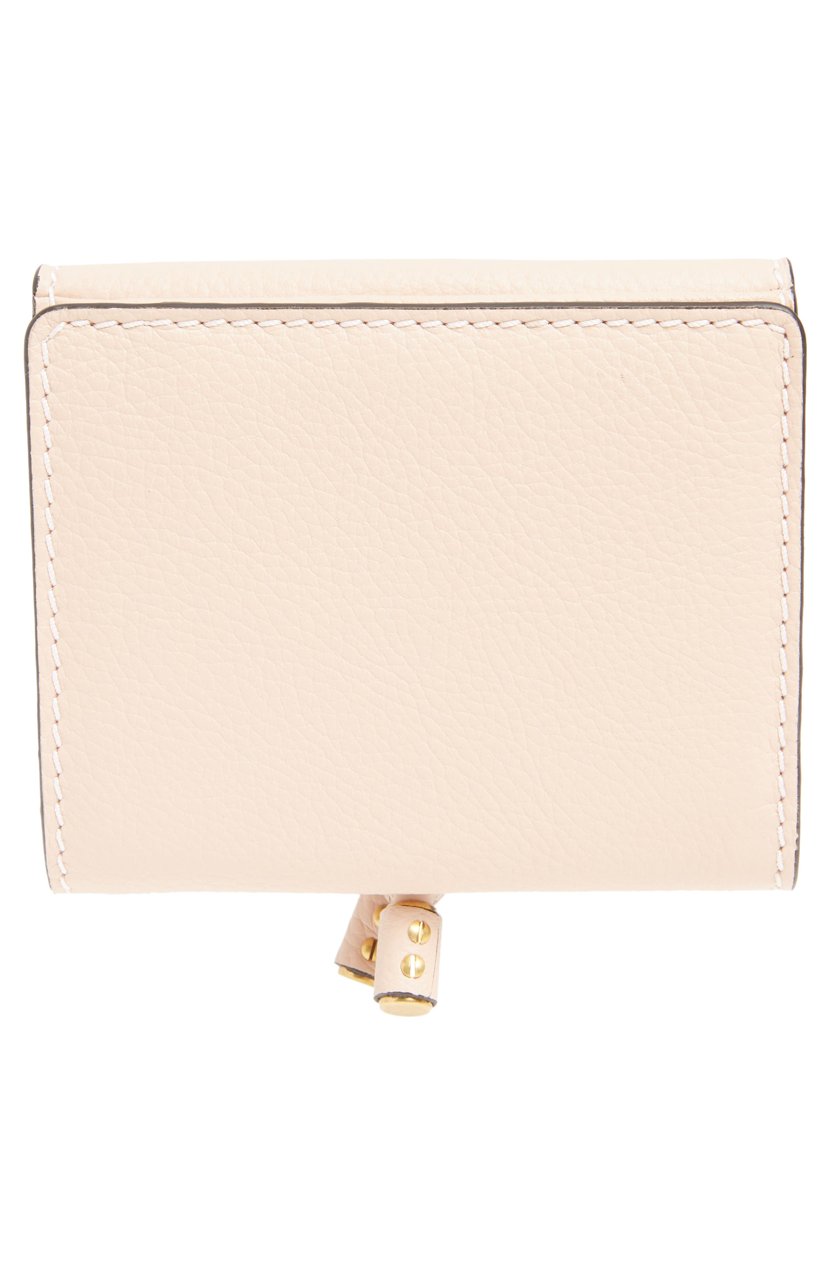 'Marcie' French Wallet,                             Alternate thumbnail 4, color,                             BLUSH NUDE