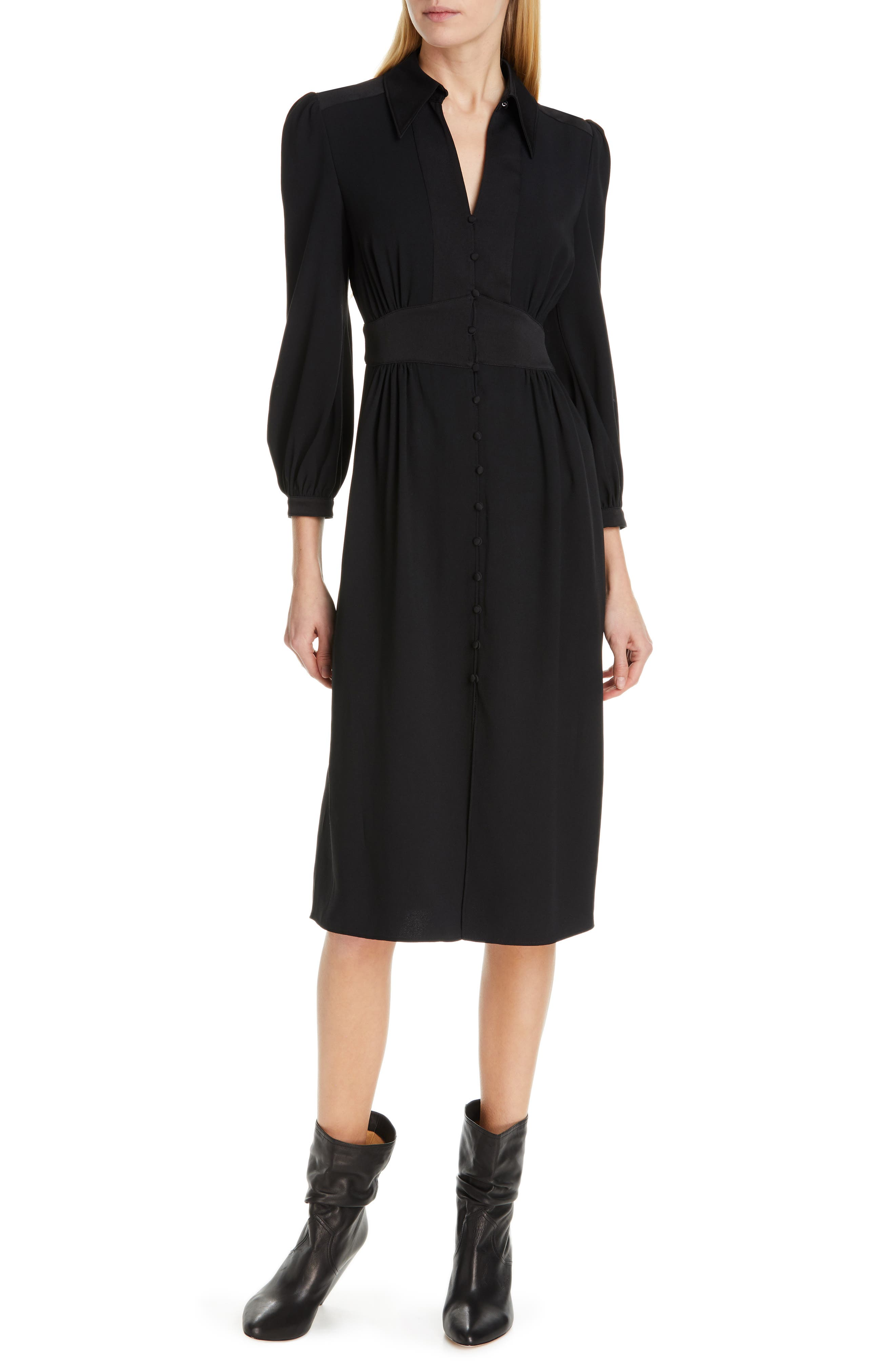 Joie Linaeve Midi Dress, Black
