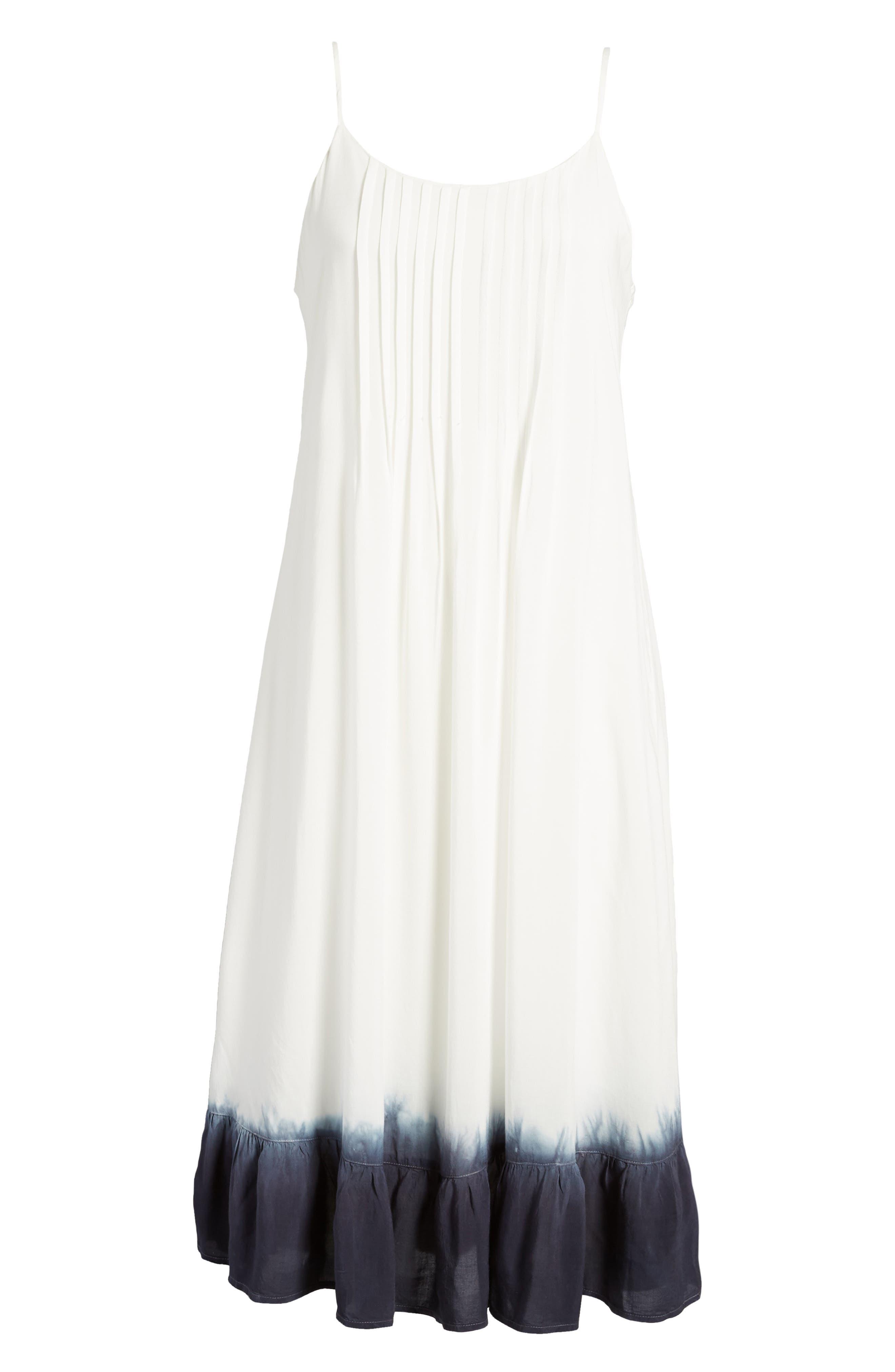 Tie Dye Ruffle Dress,                             Alternate thumbnail 6, color,                             114