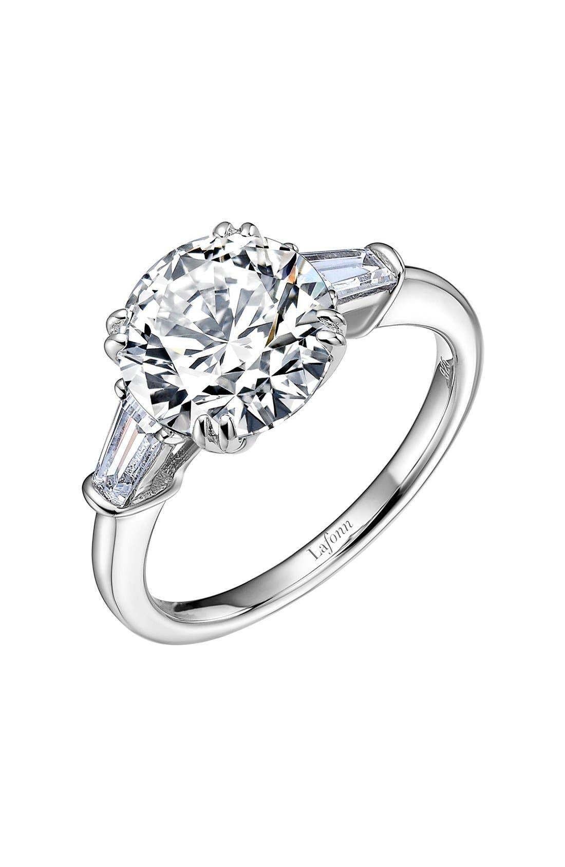 LAFONN 'Lassaire' Three Stone Ring, Main, color, SILVER