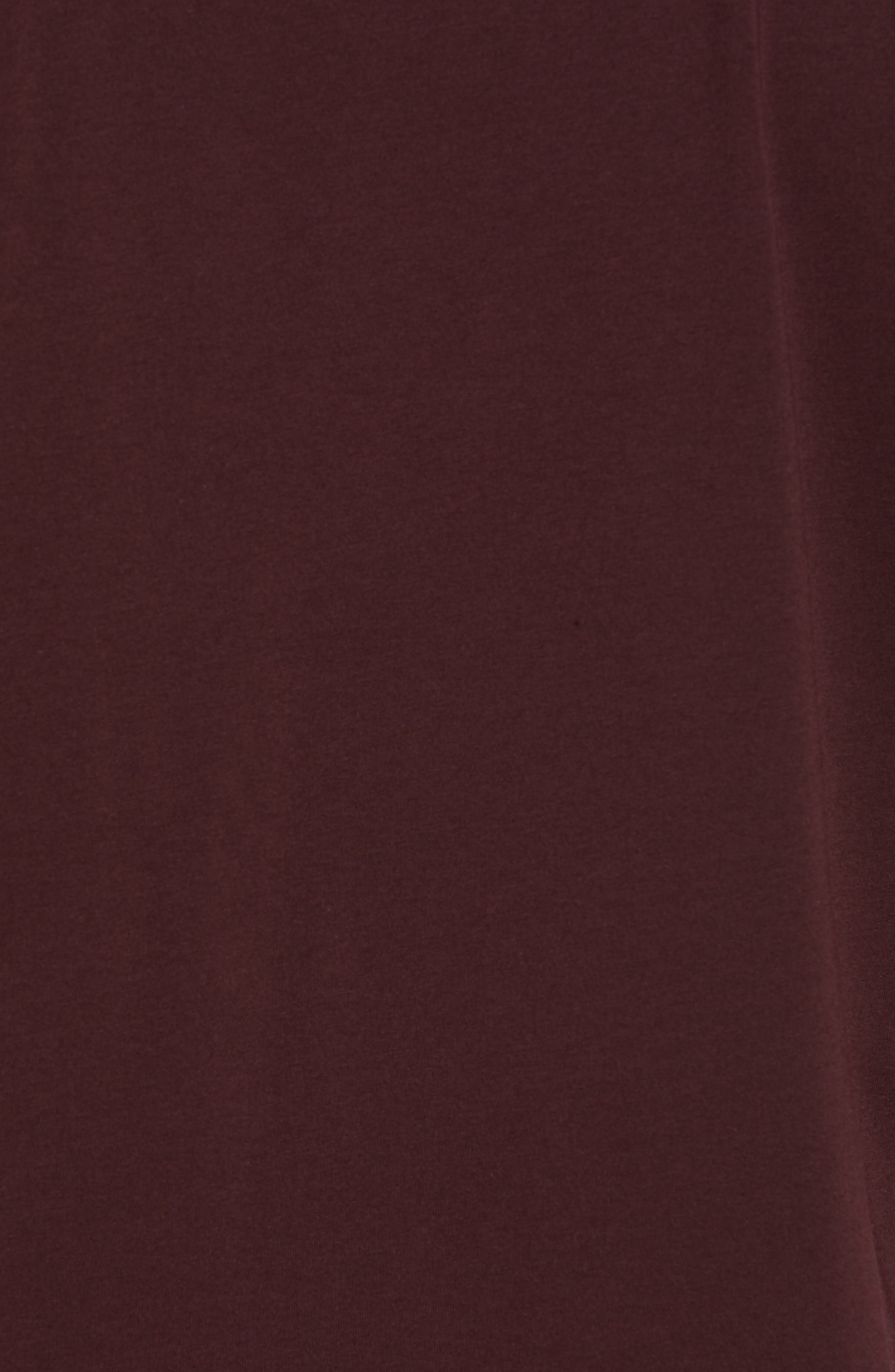 Stretch Cotton & Modal Short Sleeve Henley,                             Alternate thumbnail 5, color,                             WINE