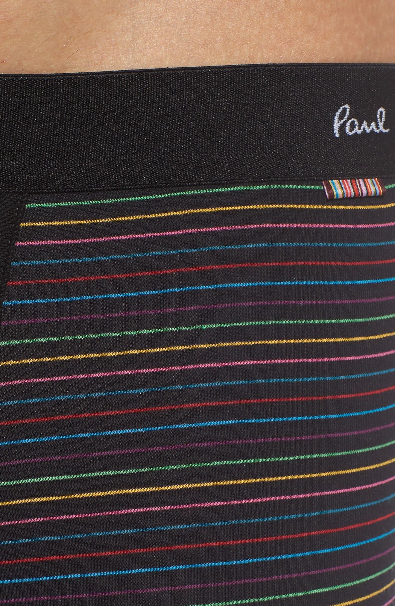 PAUL SMITH,                             Long Leg Stretch Cotton Boxer Briefs,                             Alternate thumbnail 4, color,                             BLACK