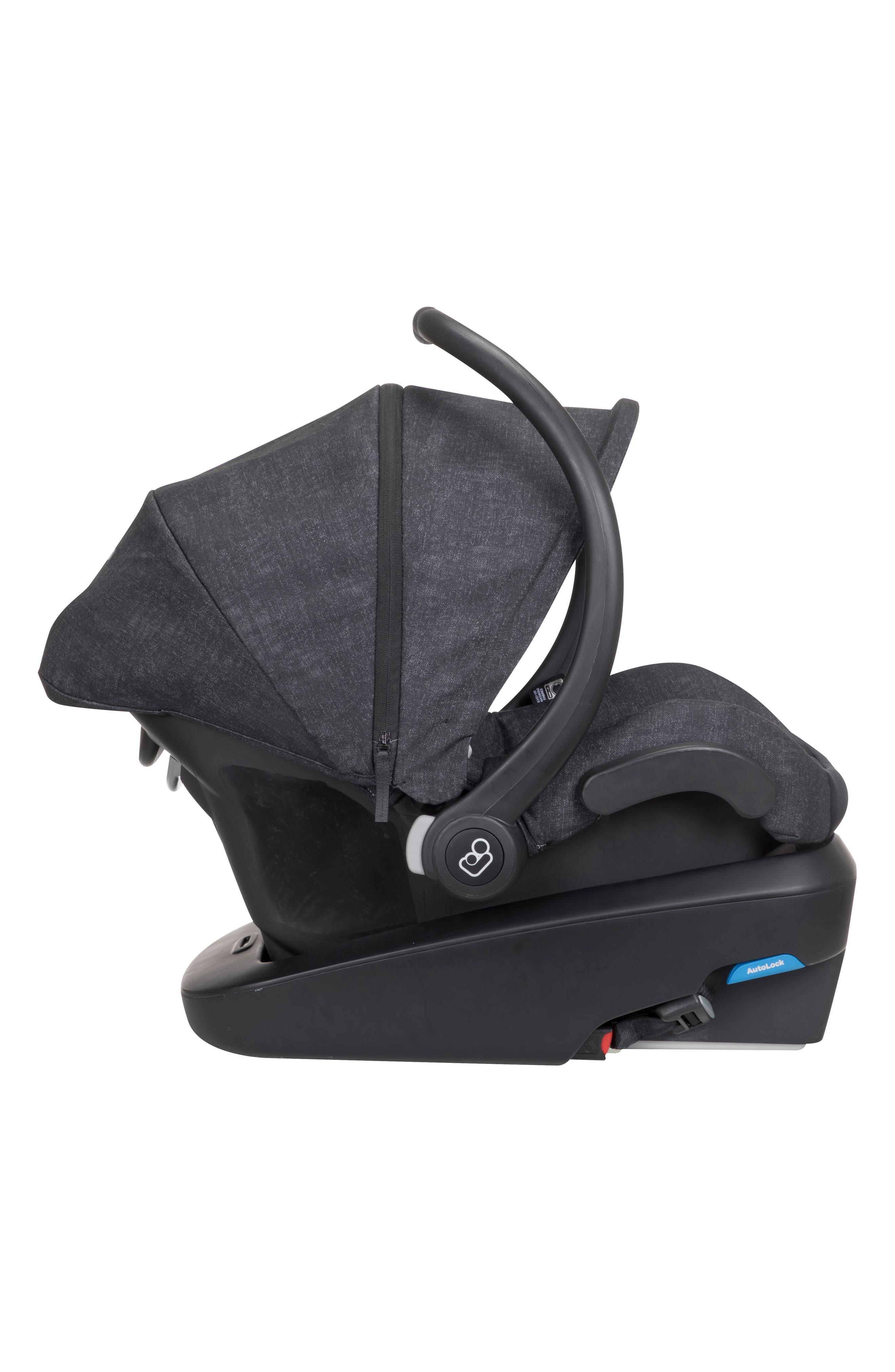 Mico Max Plus Infant Car Seat,                             Alternate thumbnail 3, color,                             NOMAD BLACK