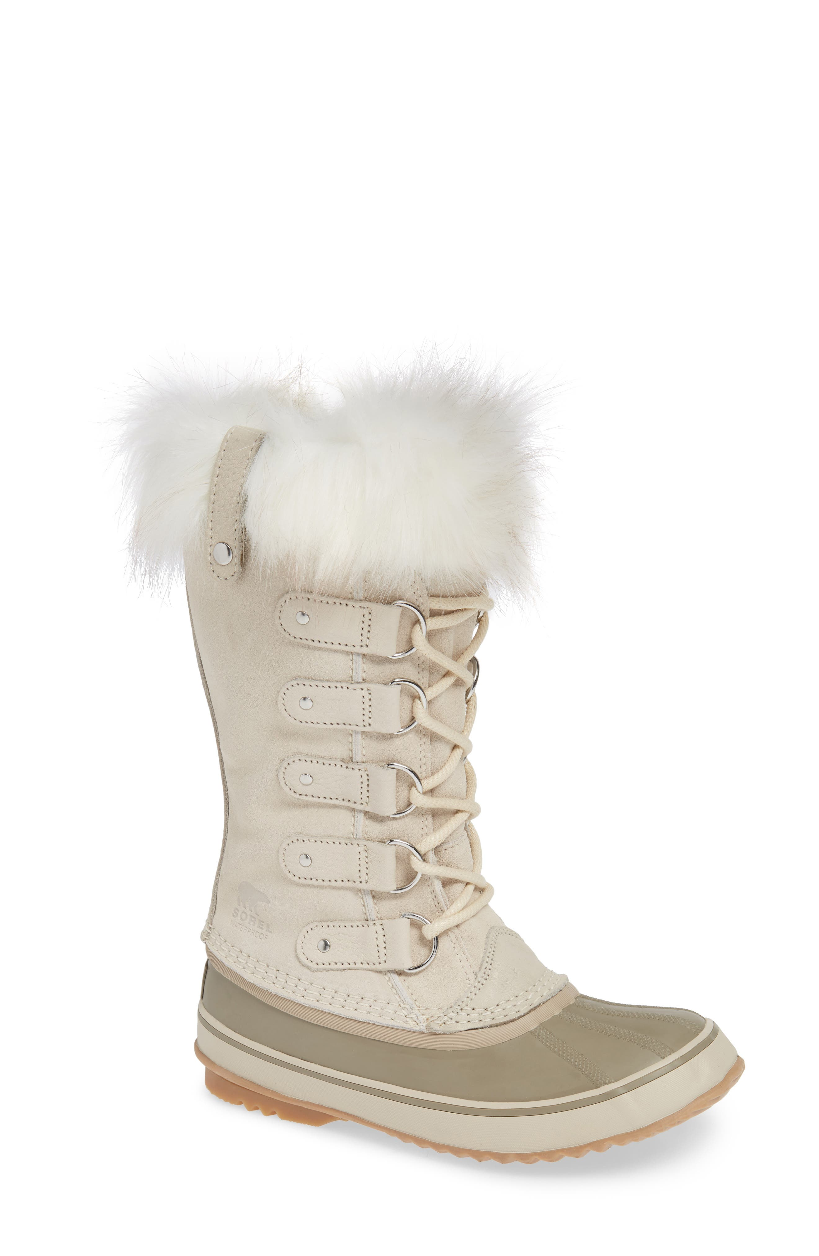 'Joan of Arctic' Waterproof Snow Boot,                             Main thumbnail 1, color,                             FAWN