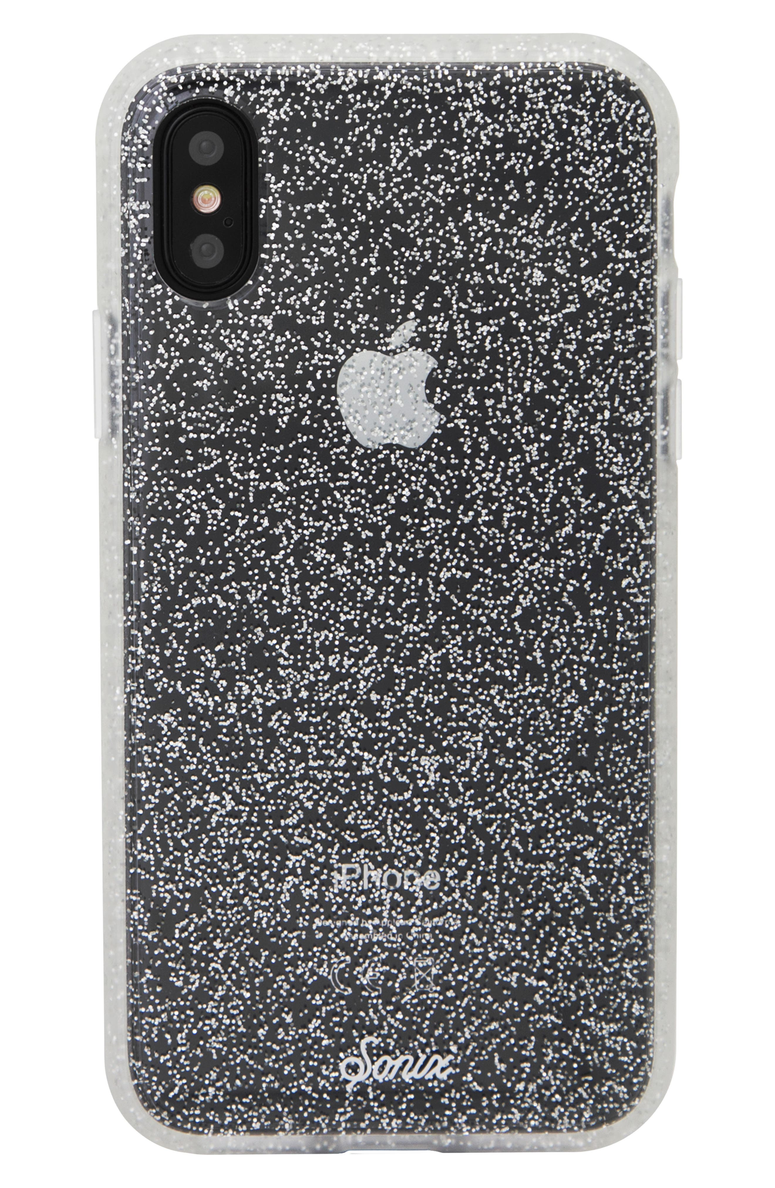 Glitter iPhone X/Xs, XR & X Max Case,                             Main thumbnail 1, color,                             040