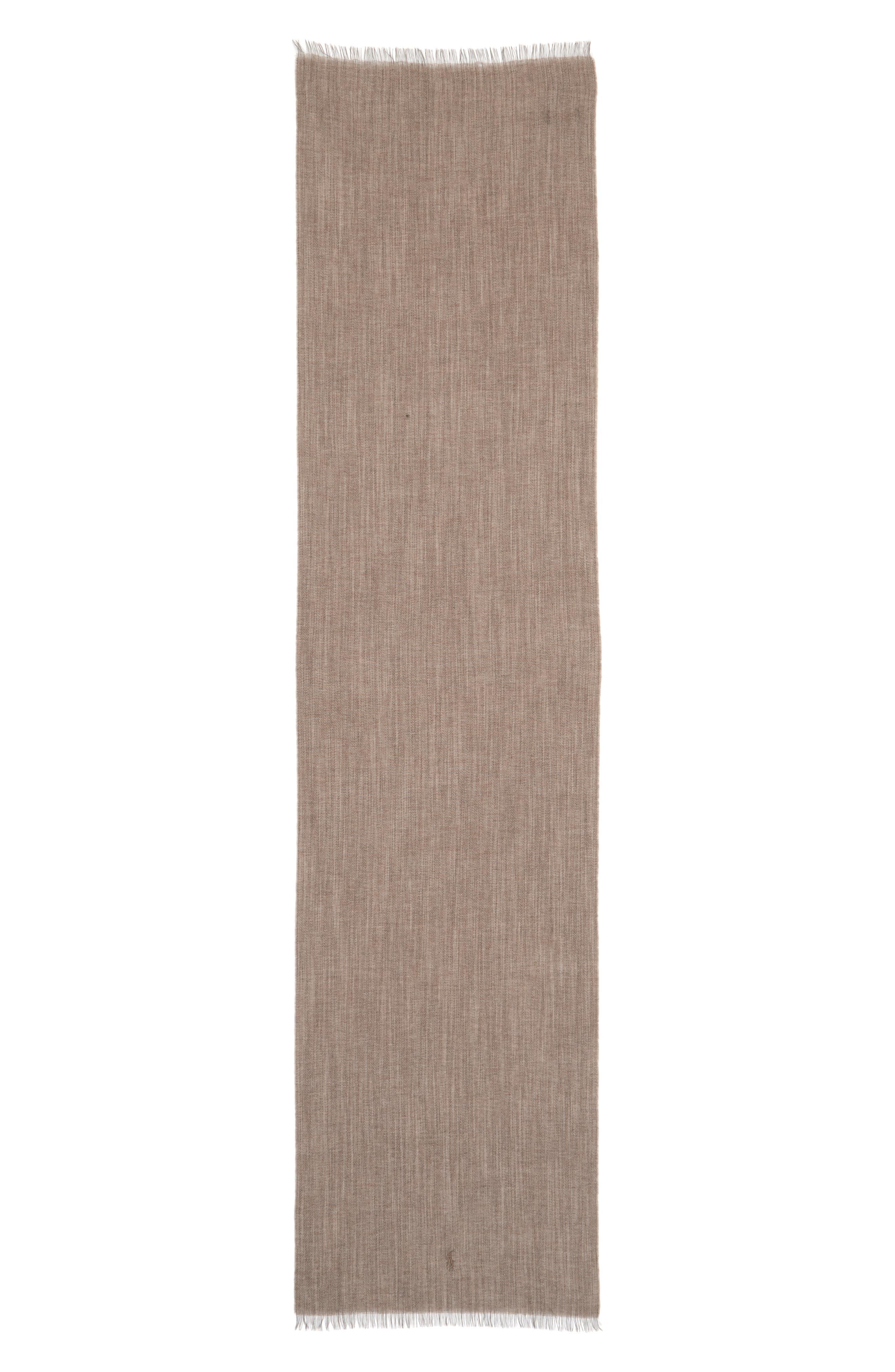 Délavé Lightweight Wool Blend Scarf,                             Alternate thumbnail 4, color,