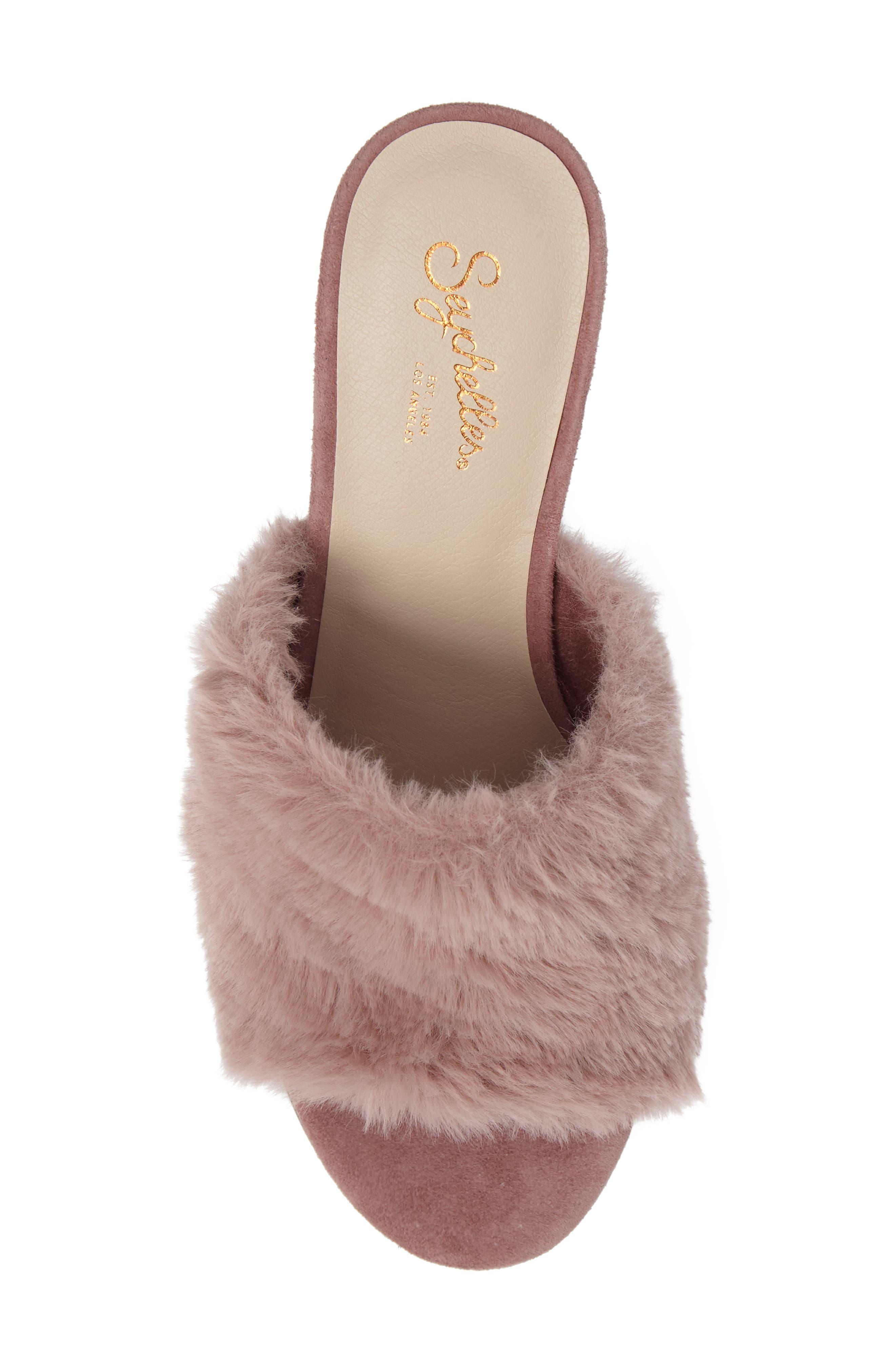 Nobody Else Faux Fur Slide Sandal,                             Alternate thumbnail 10, color,