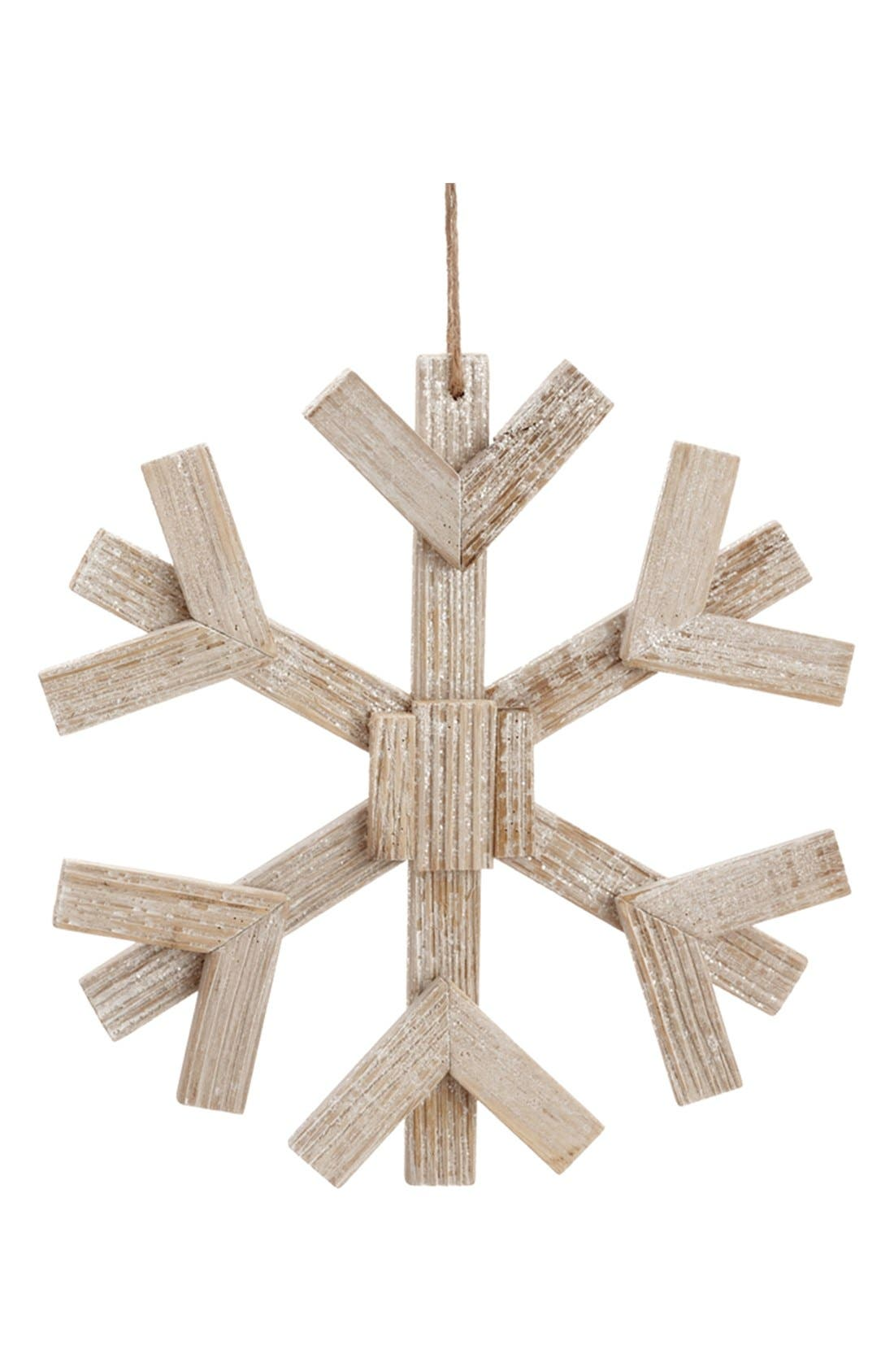 ALLSTATE 'Drift' Snowflake Ornament, Main, color, 250