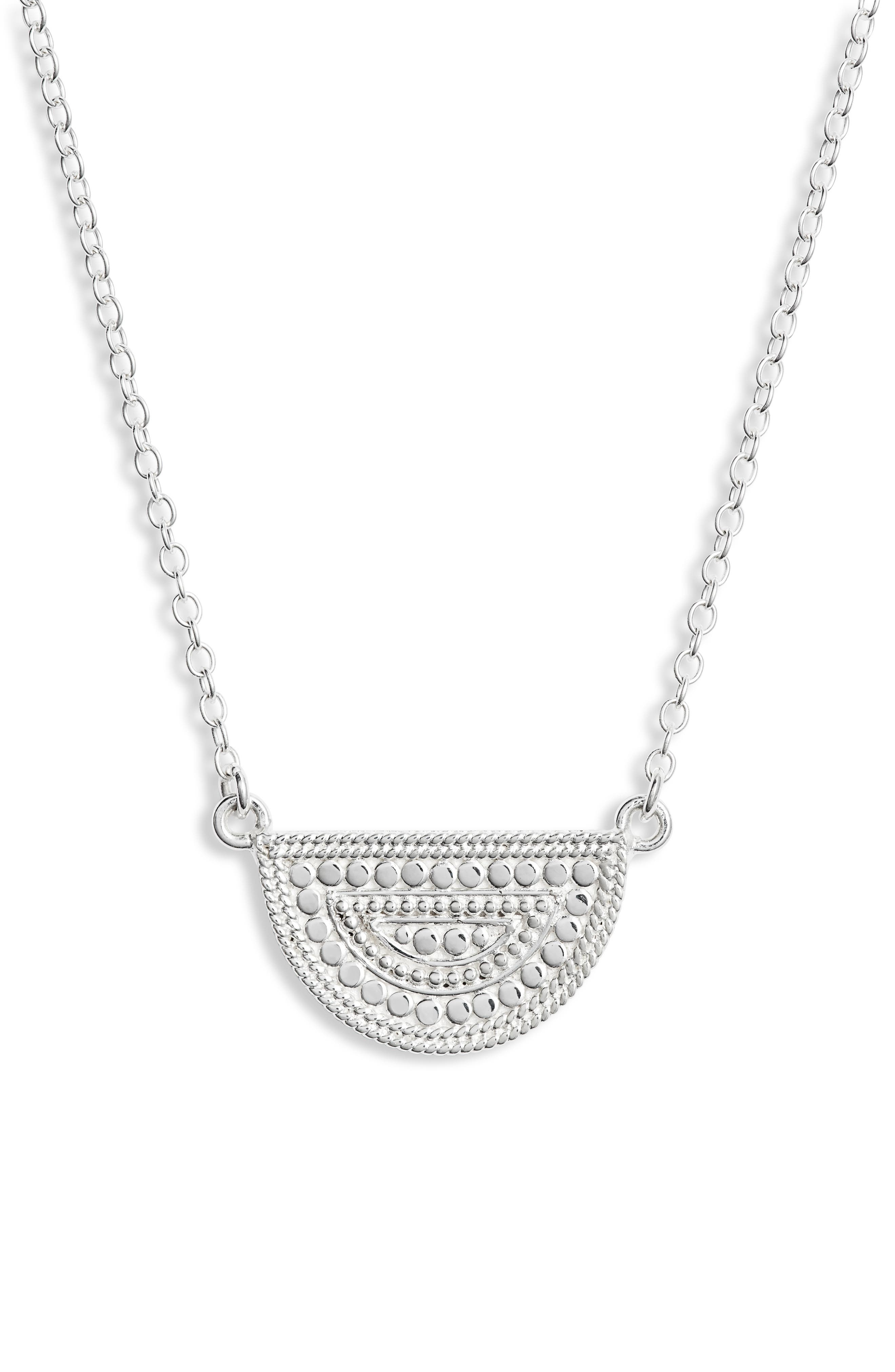 ANNA BECK Beaded Reversible Half-Moon Necklace in Black