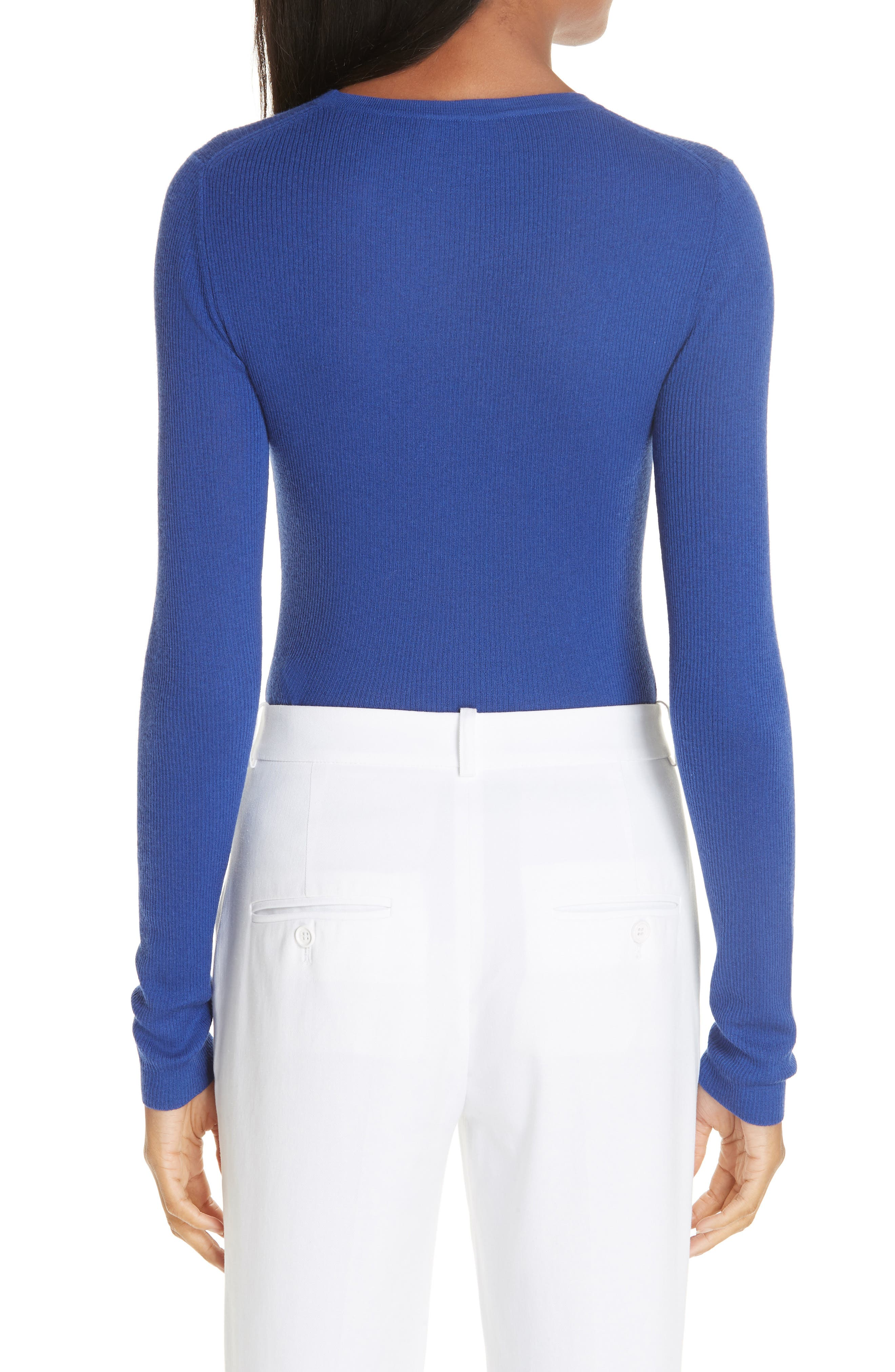 Ribbed Crewneck Sweater,                             Alternate thumbnail 2, color,                             LAPIS
