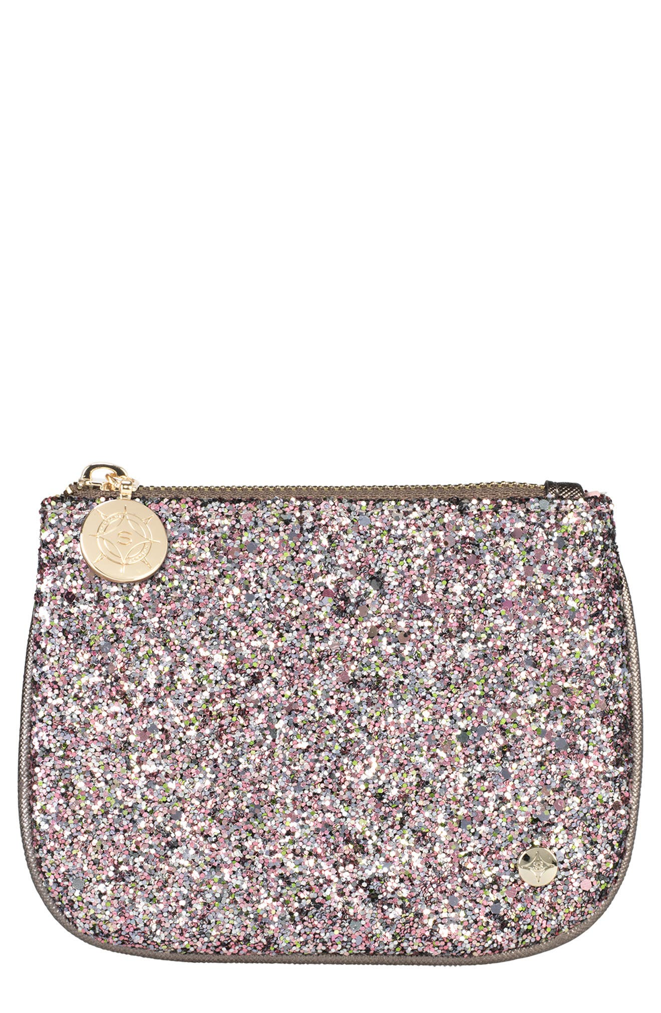 STEPHANIE JOHNSON Mini Flat Pouch in Hollywood Pink