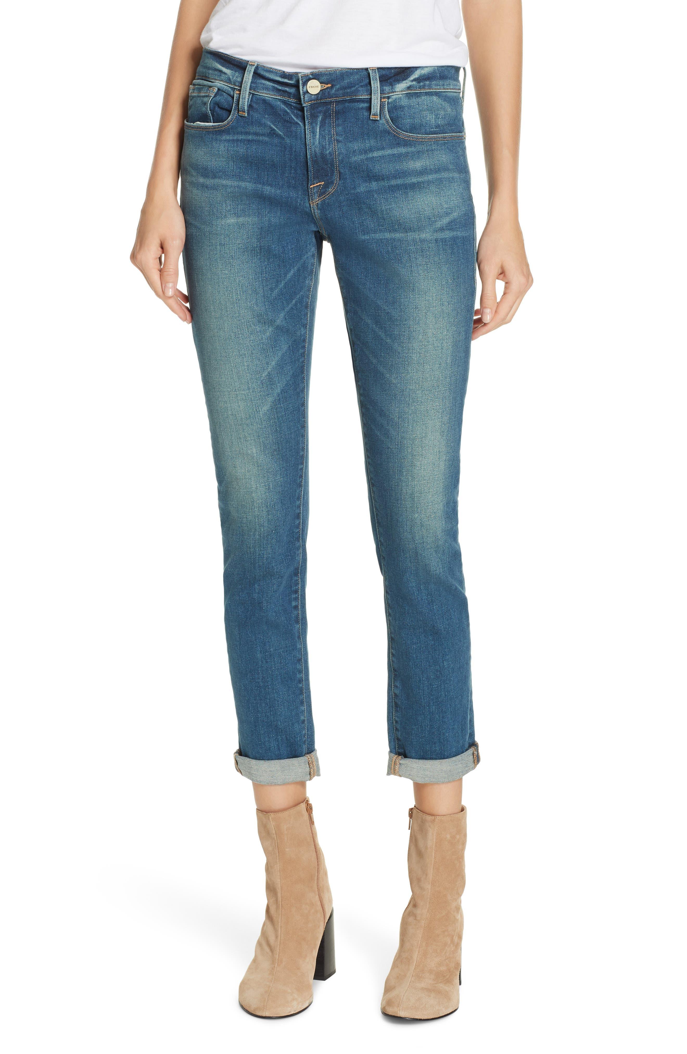Le Garcon Slim Boyfriend Jeans,                             Main thumbnail 1, color,                             BERKLEY SQUARE