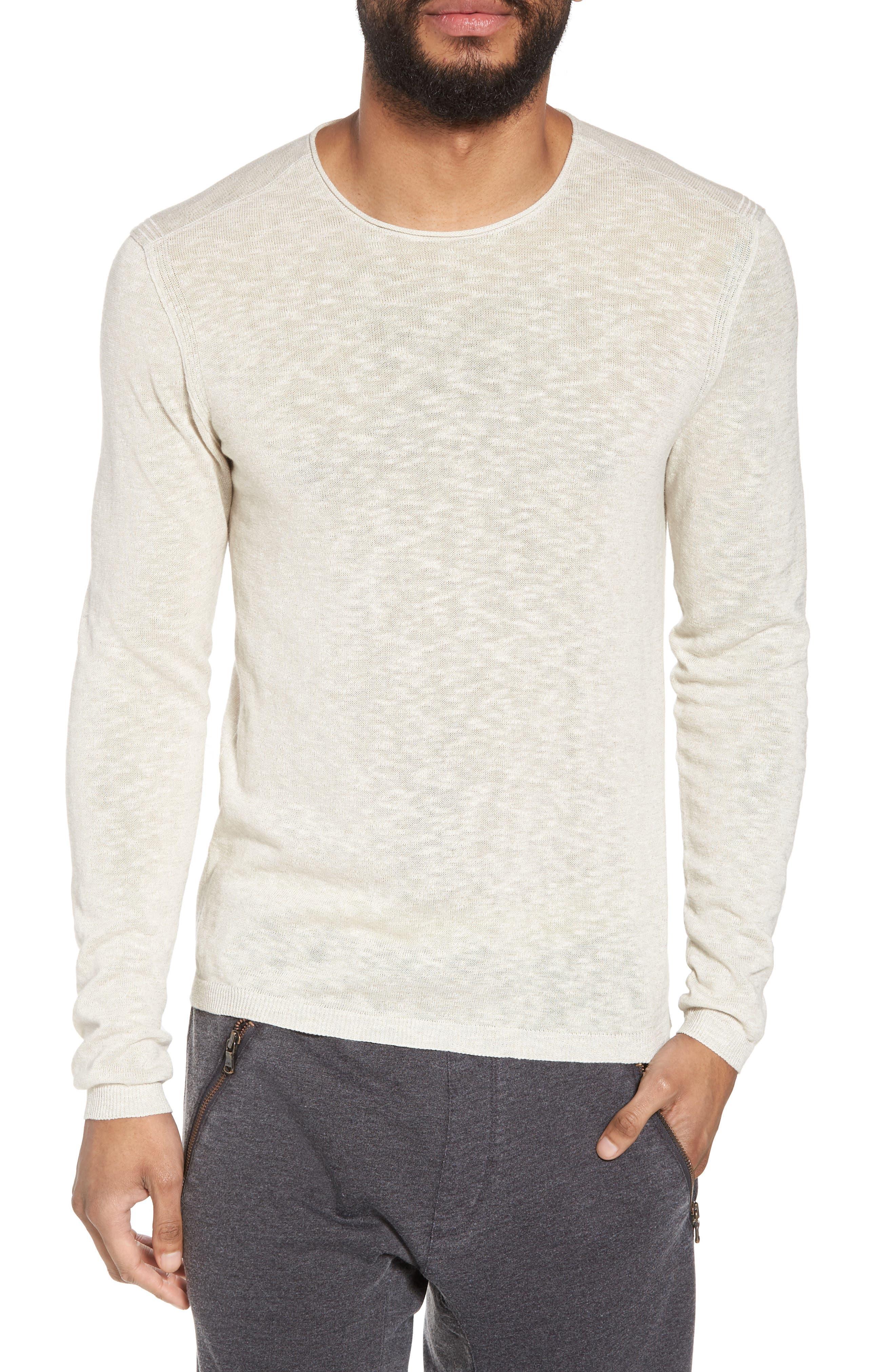 Slim Fit Cotton Blend Sweater,                             Main thumbnail 1, color,
