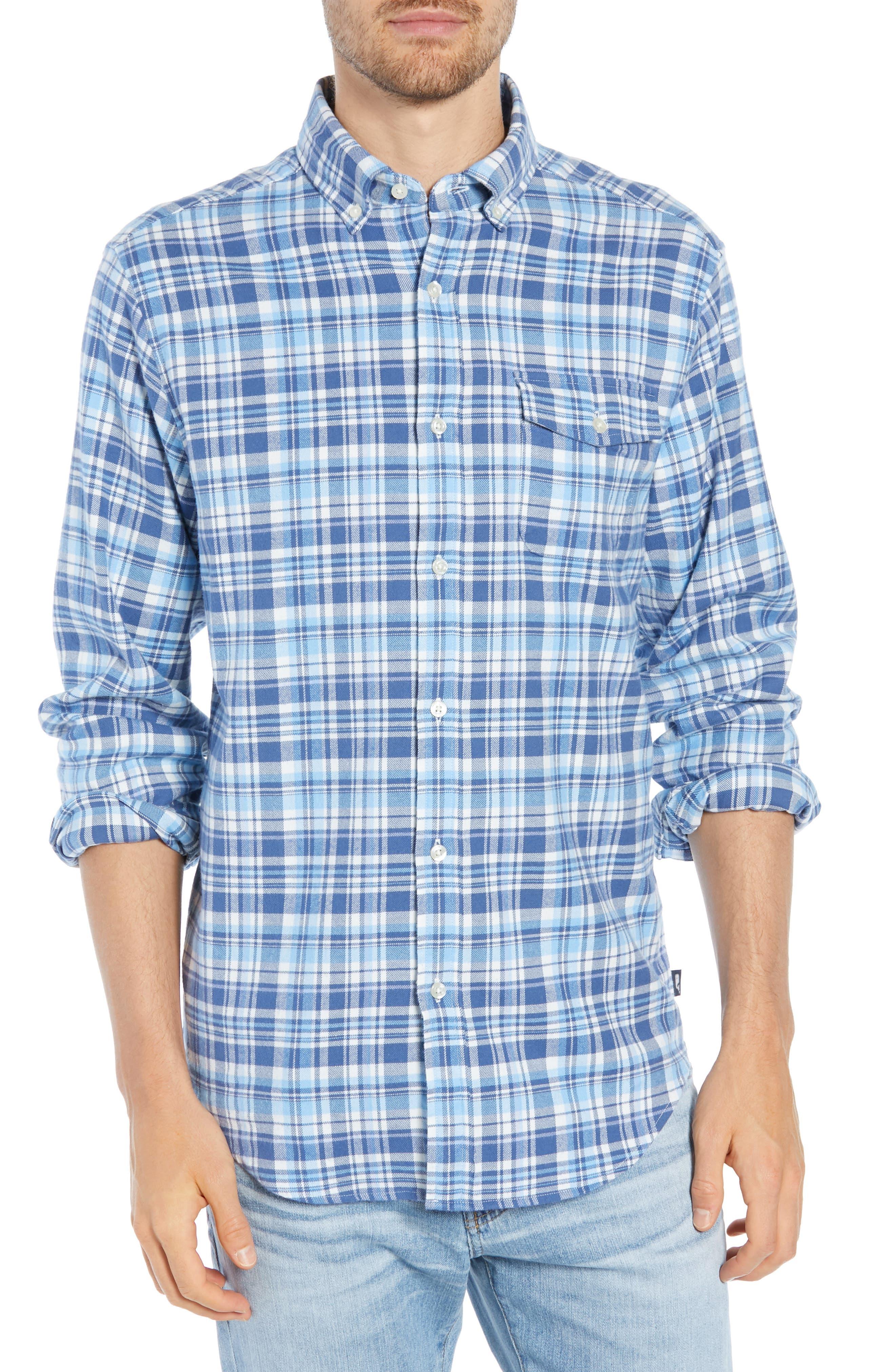 Mill Hill Regular Fit Plaid Flannel Shirt,                         Main,                         color, MOONSHINE