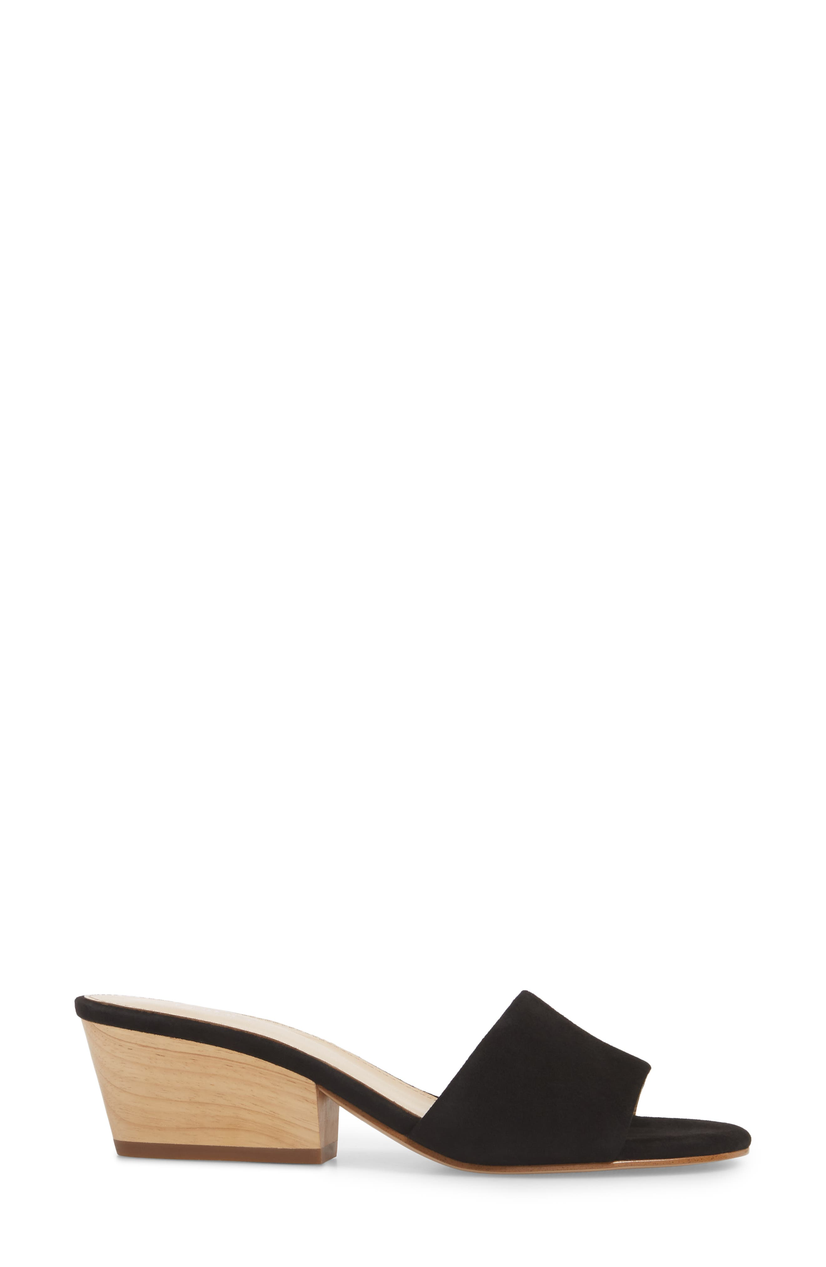 Carlie Mule,                             Alternate thumbnail 3, color,                             BLACK SUEDE