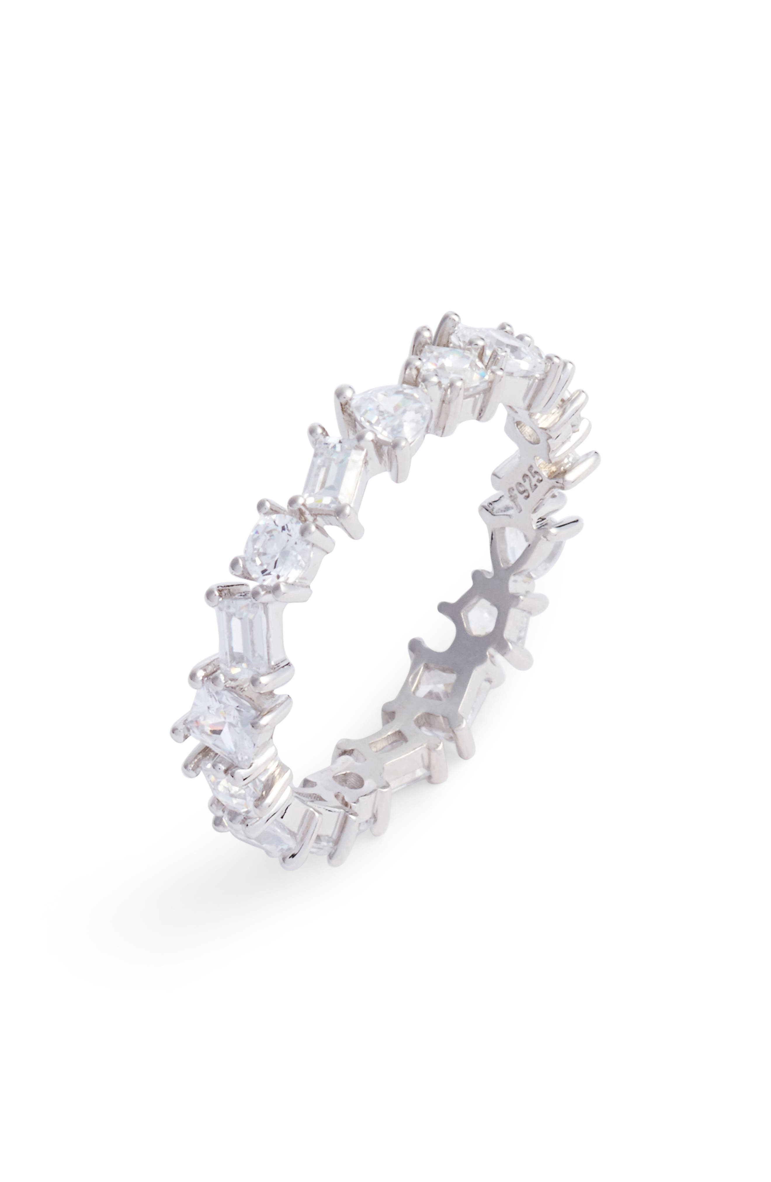 Cubic Zirconia Eternity Ring,                             Main thumbnail 1, color,                             040