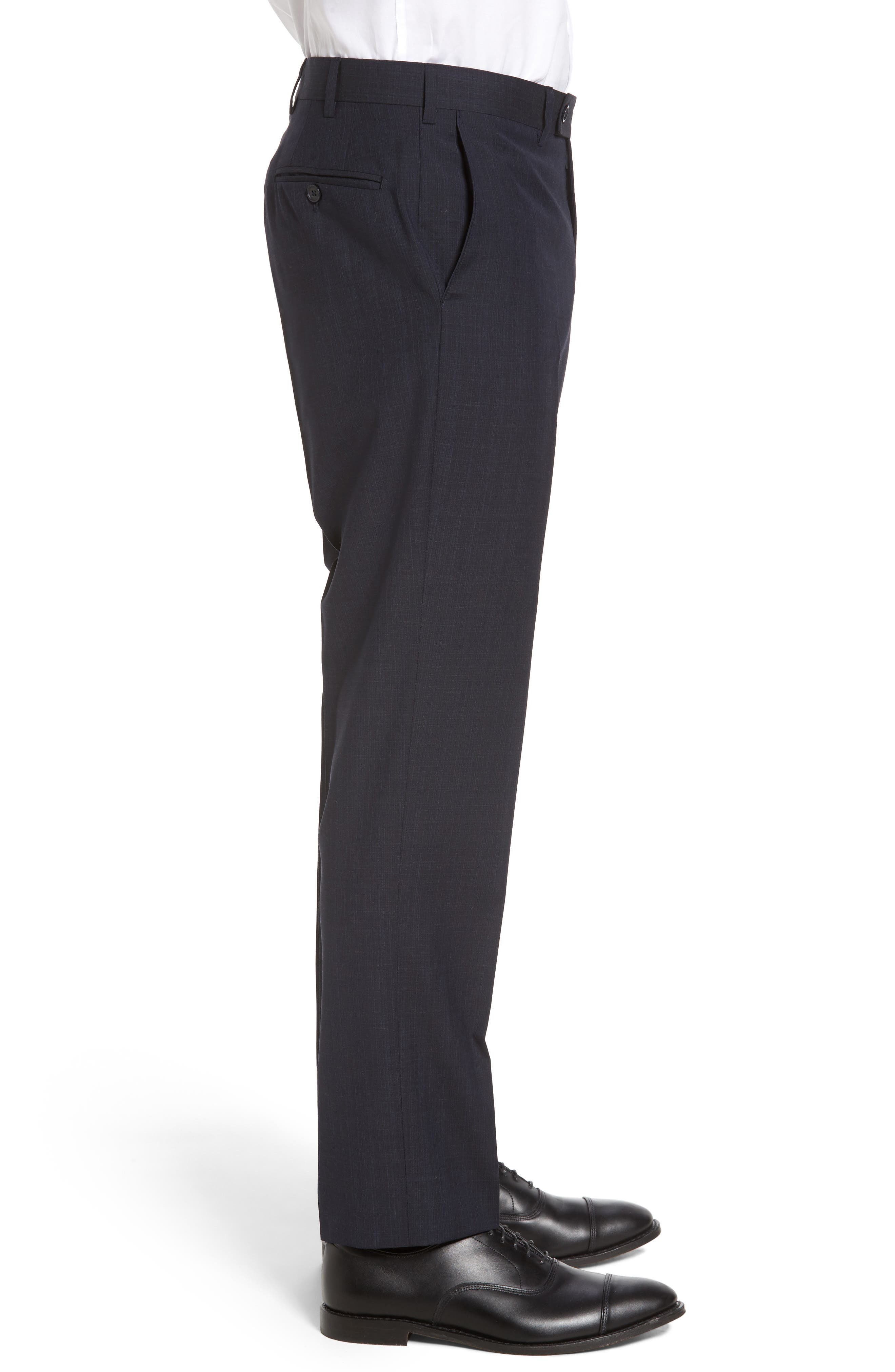 Flat Front Solid Wool Trousers,                             Alternate thumbnail 12, color,