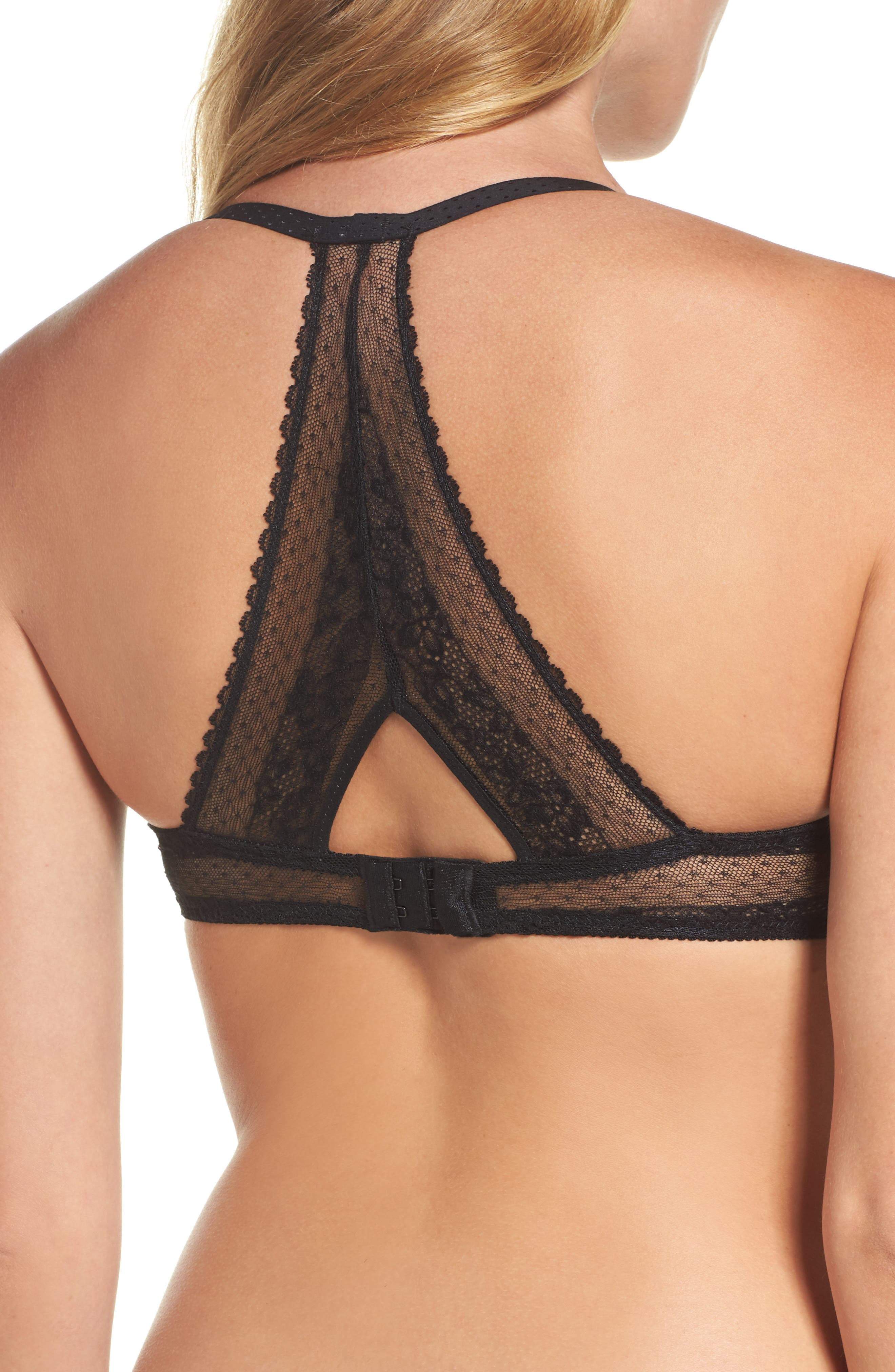 Embrasse Moi Underwire Plunge Bra,                             Alternate thumbnail 2, color,                             001