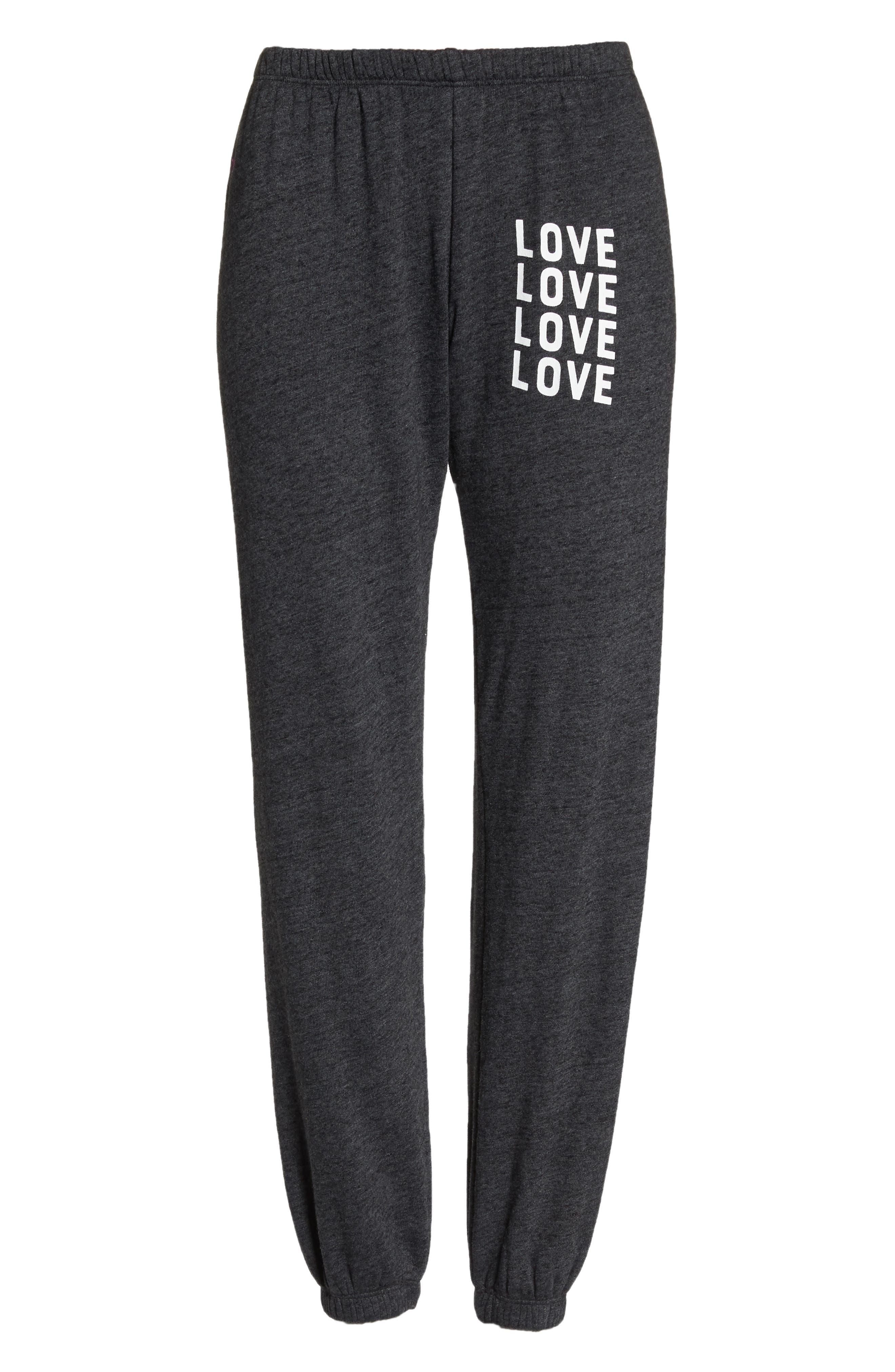 Love Perfect Sweatpants,                             Alternate thumbnail 7, color,                             VINTAGE BLACK
