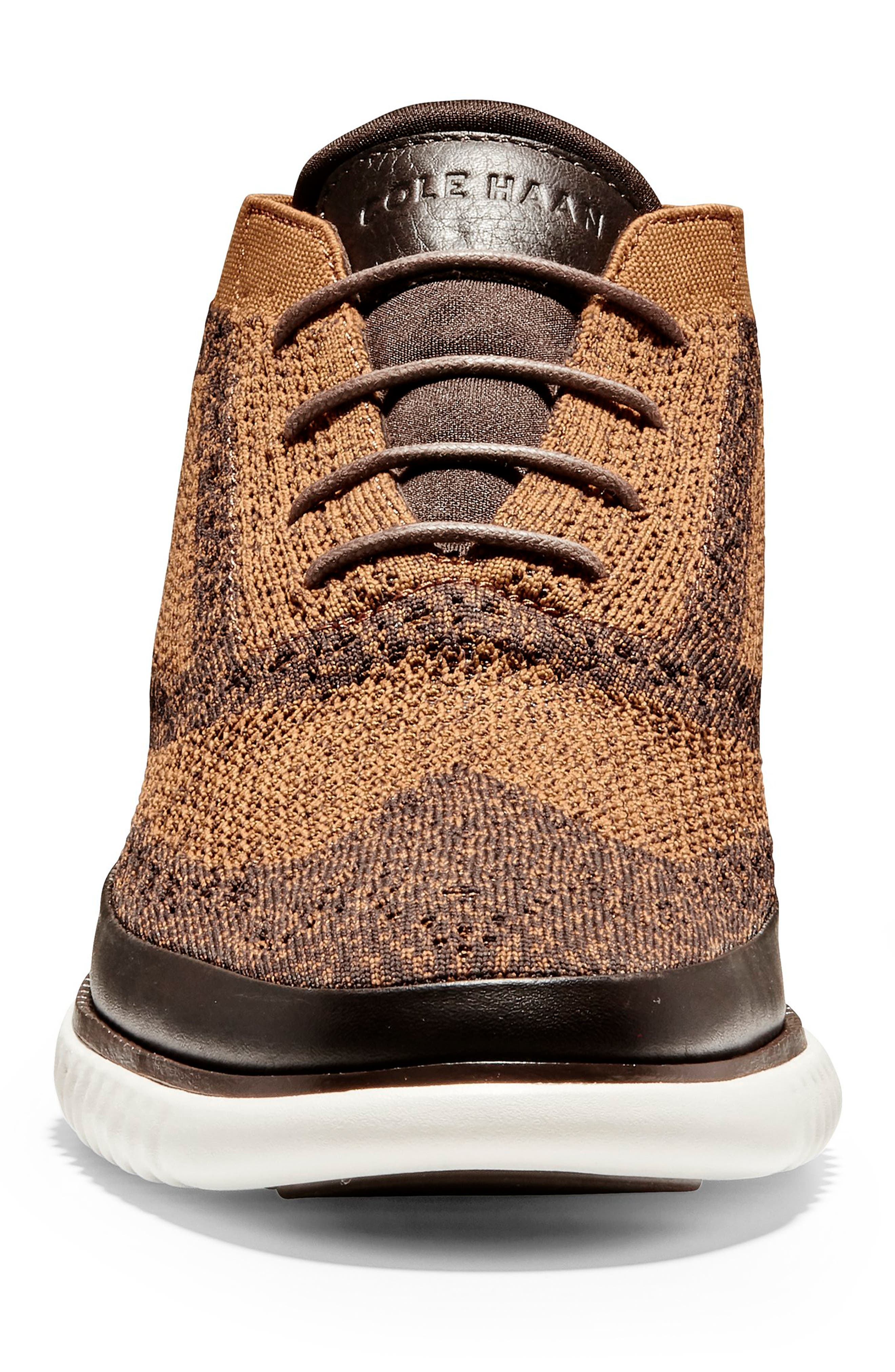 2.ZeroGrand Stitchlite Water Resistant Chukka Boot,                             Alternate thumbnail 4, color,                             BROWN HEATHERED KNIT