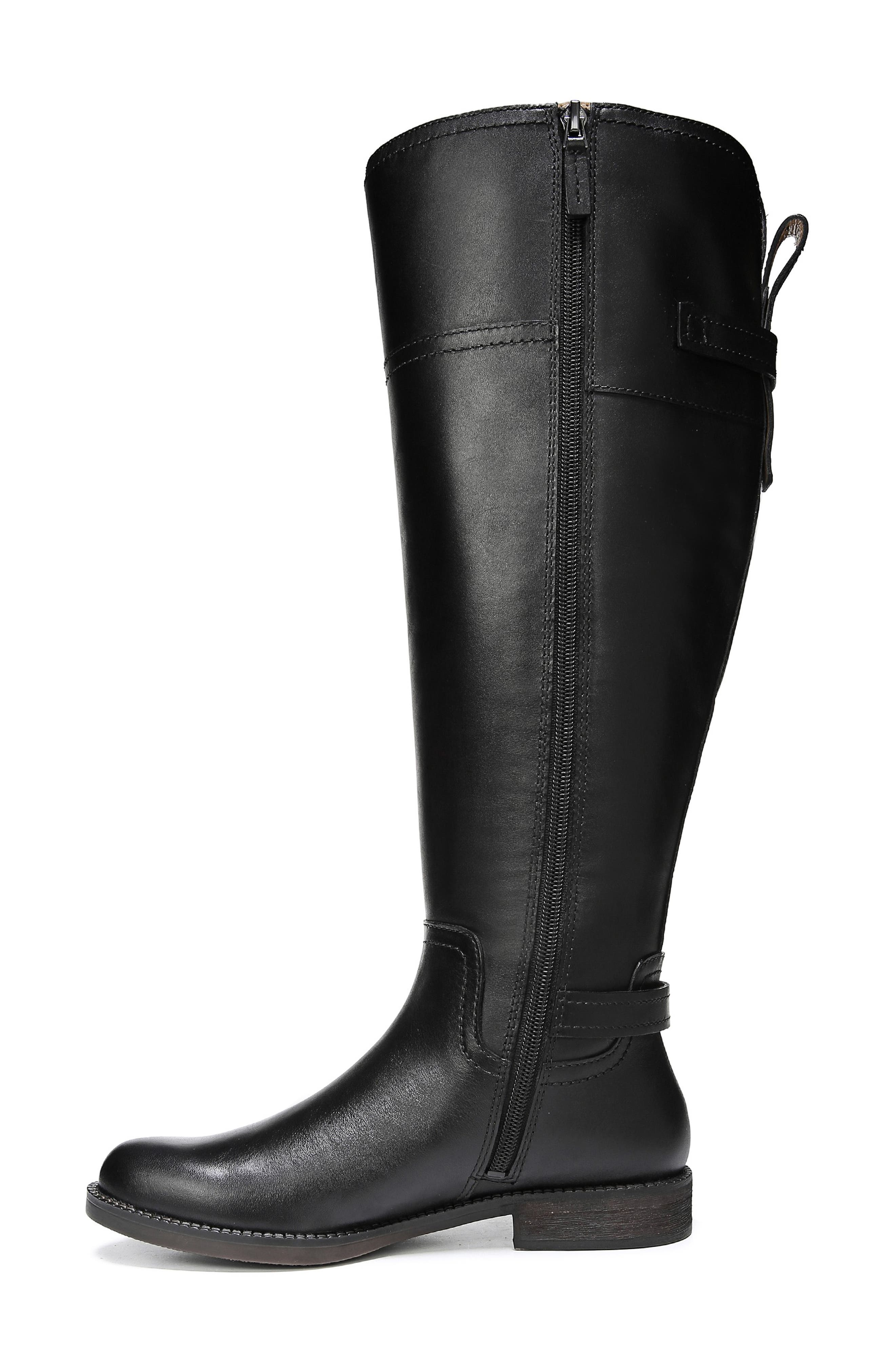 Capitol Riding Boot,                             Alternate thumbnail 3, color,                             BLACK LEATHER