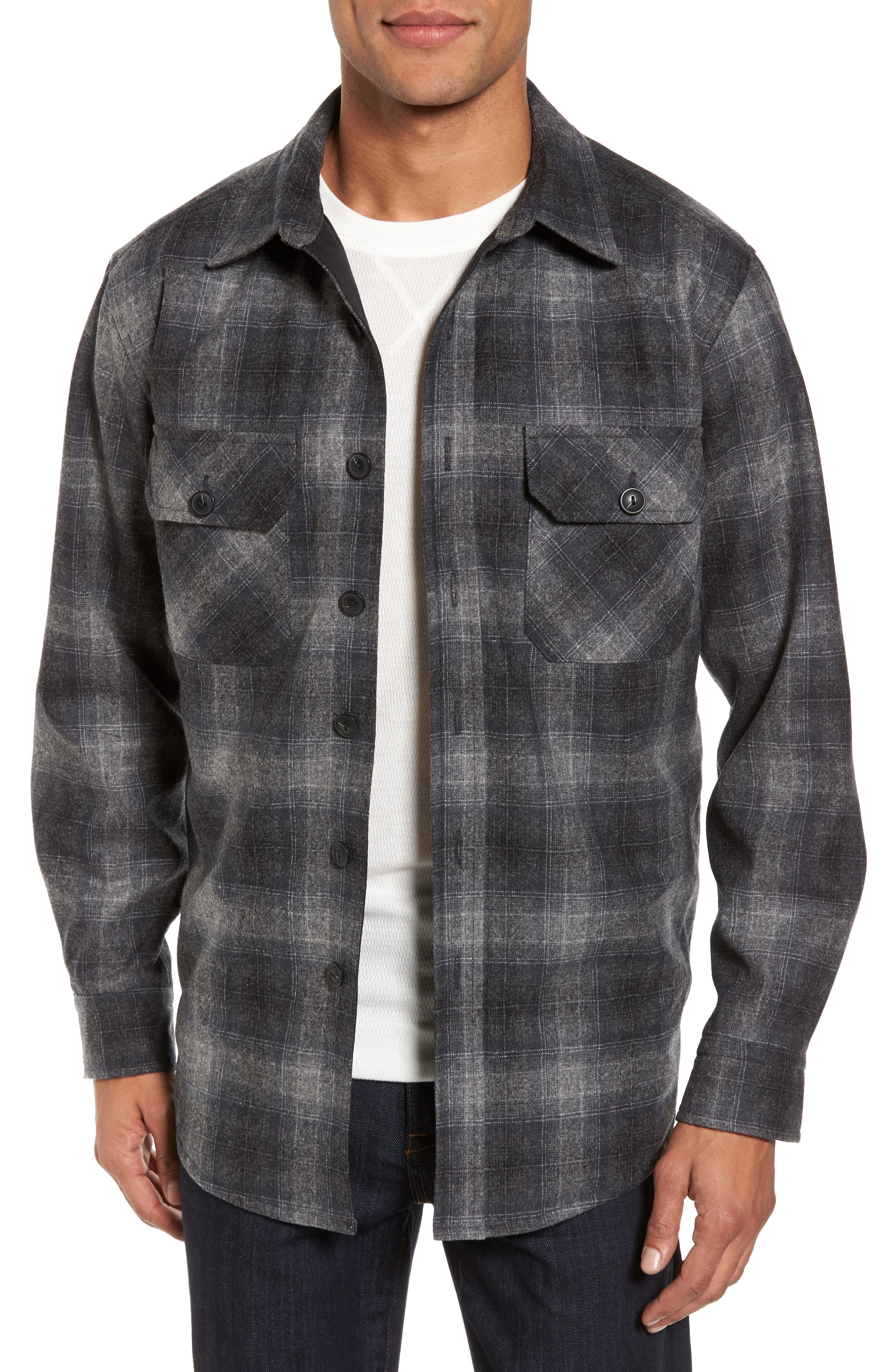 Quilted Wool Shirt Jacket,                         Main,                         color, 020