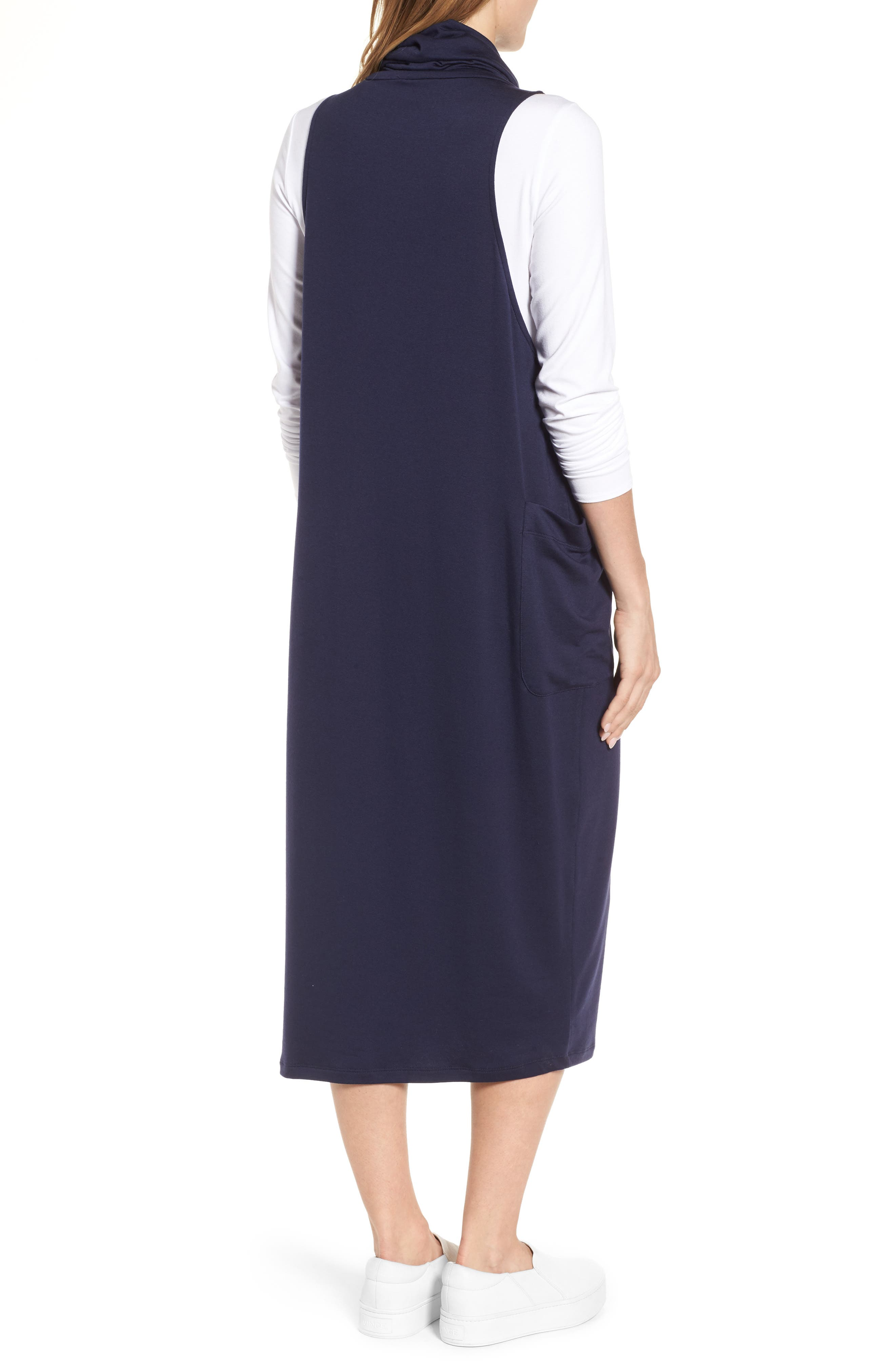 Stretch Tencel<sup>®</sup> Lyocell Knit Jumper Dress,                             Alternate thumbnail 6, color,