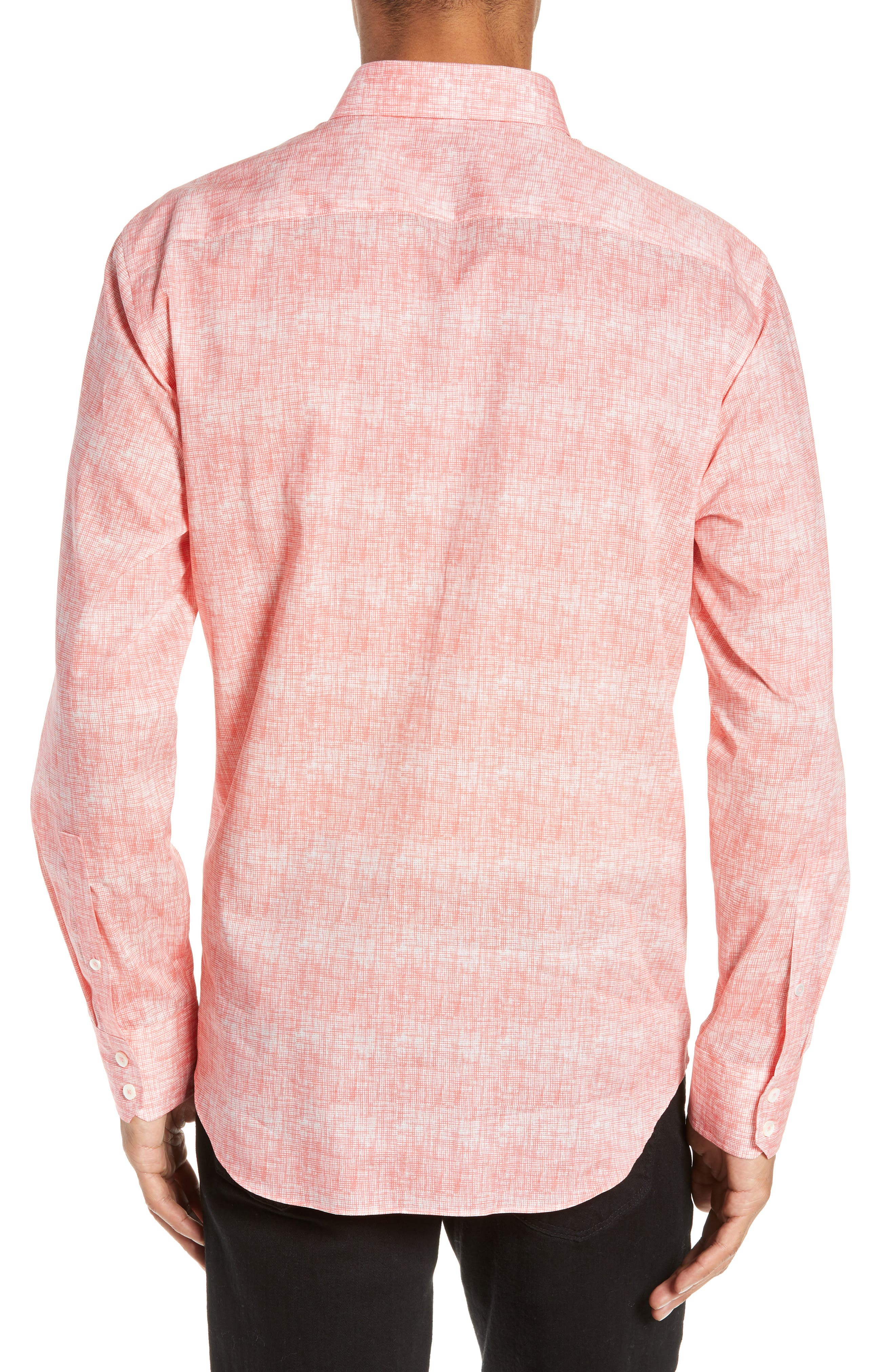 Griffin Regular Fit Sport Shirt,                             Alternate thumbnail 3, color,                             PINK