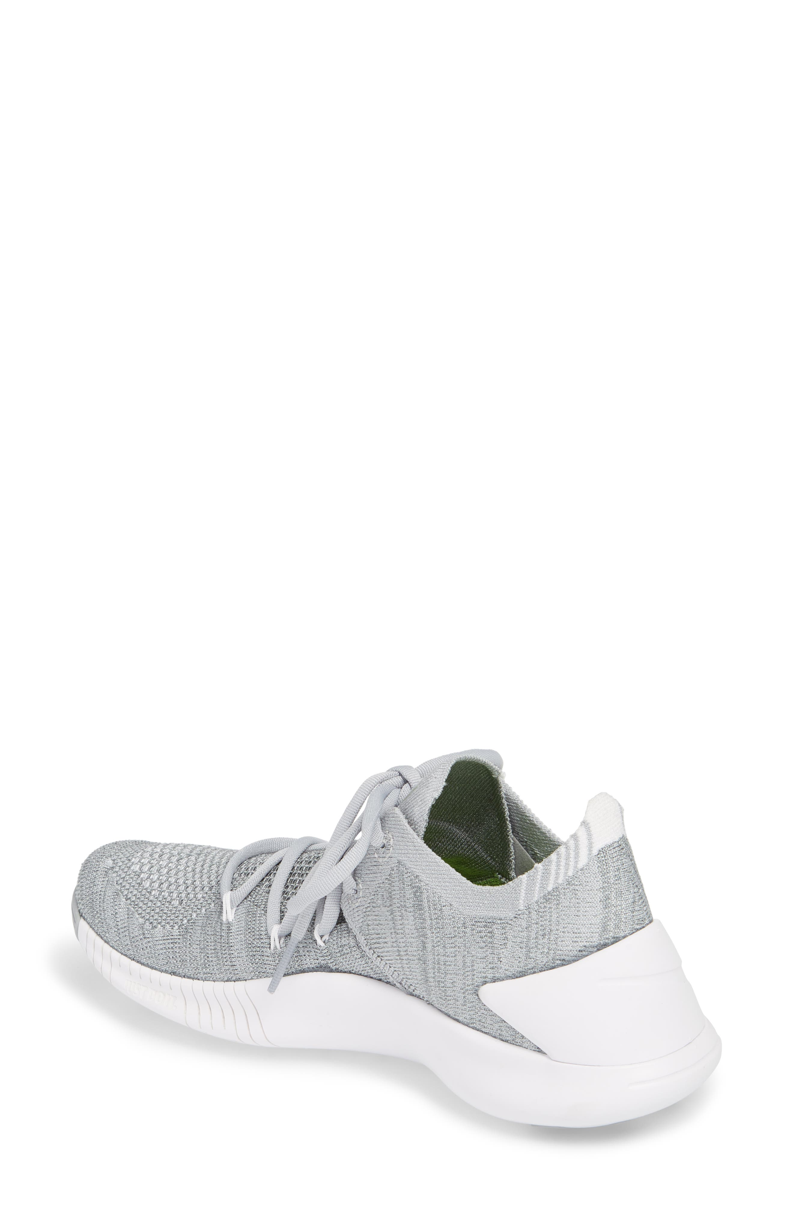 Free TR Flyknit 3 Training Shoe,                             Alternate thumbnail 2, color,                             WOLF GREY/ WHITE