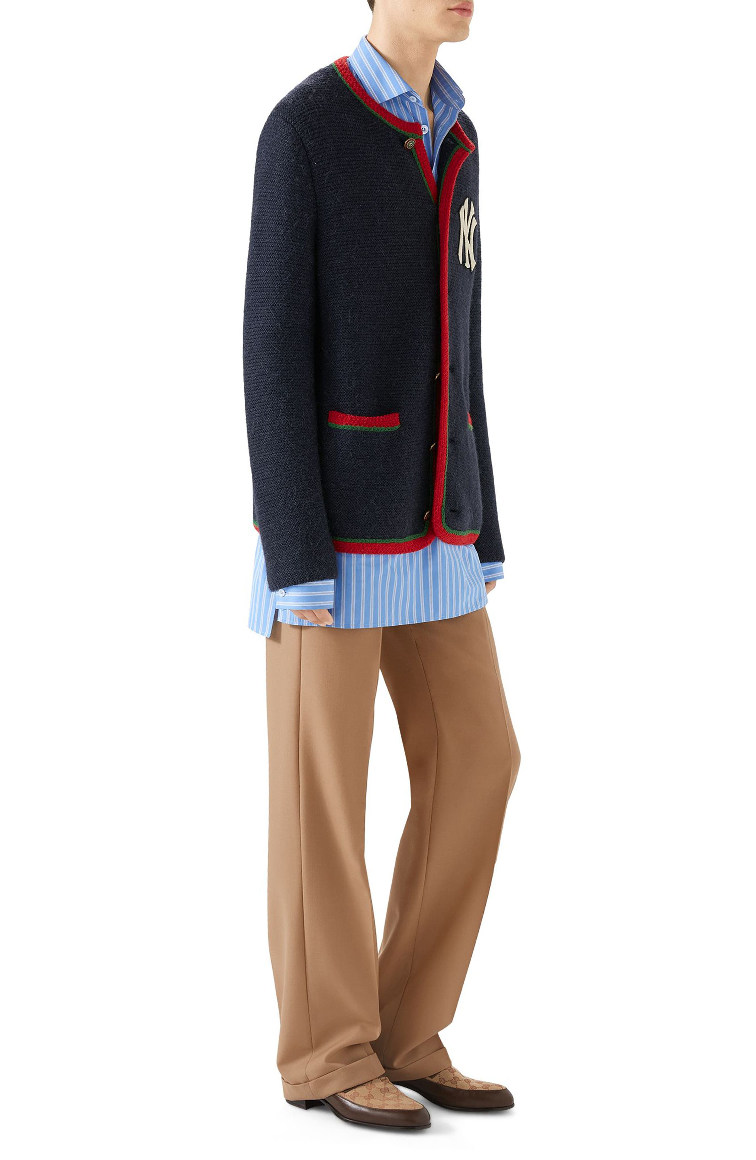 Wool Sweater,                             Alternate thumbnail 3, color,                             NAVY