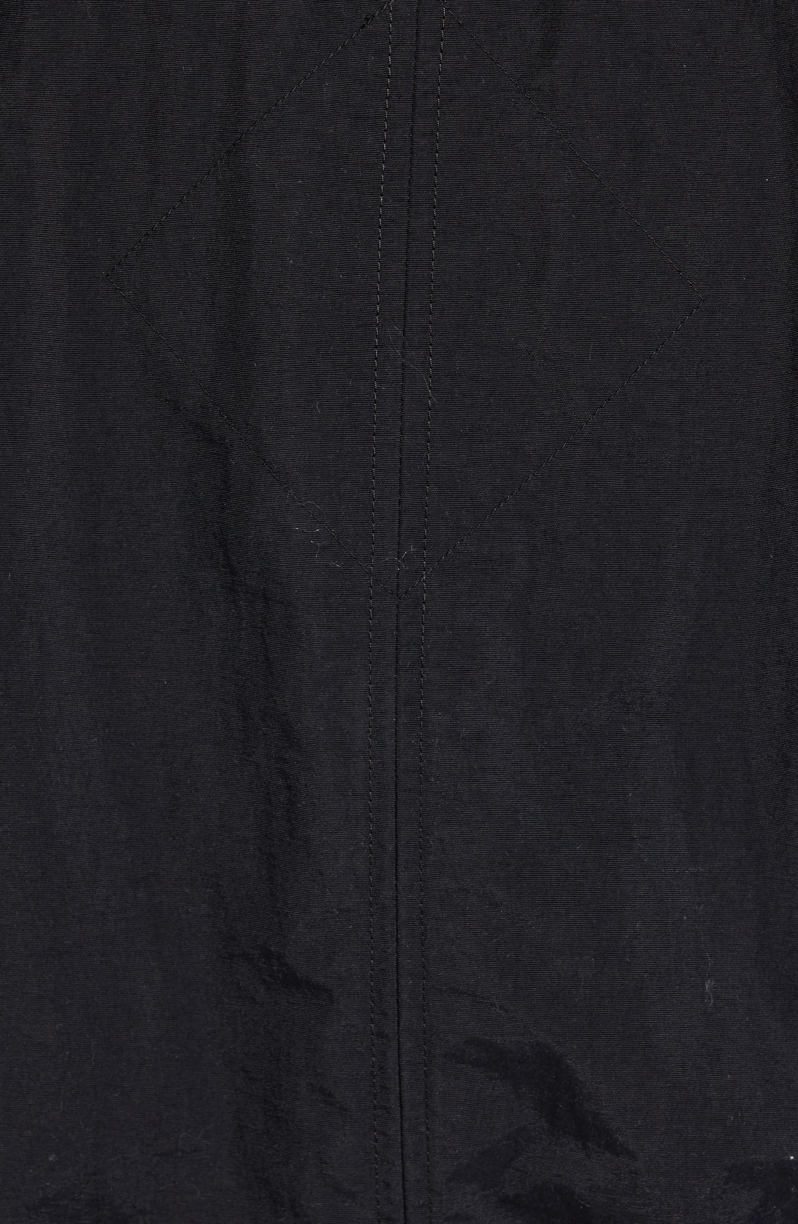Faber Slim Fit Bomber Jacket,                             Alternate thumbnail 5, color,                             BLACK