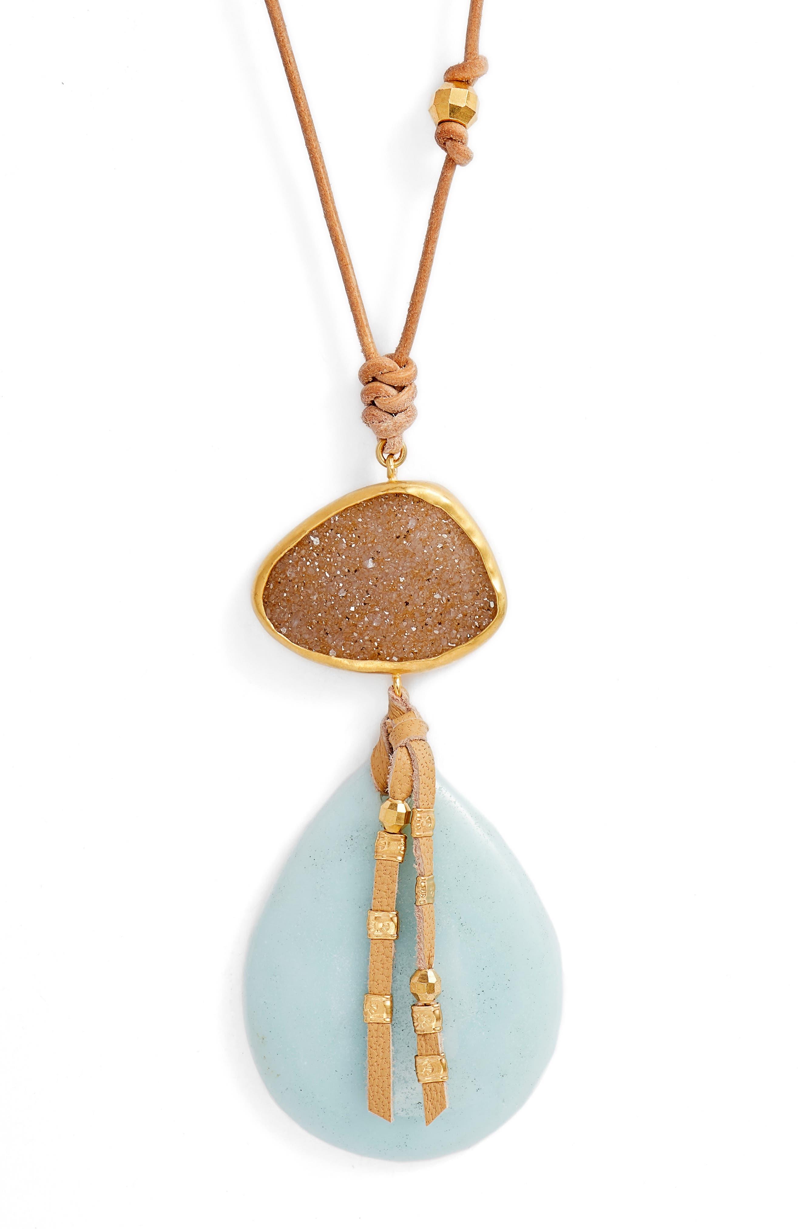 Amazonite Pendant Necklace,                             Alternate thumbnail 2, color,                             AMAZONITE
