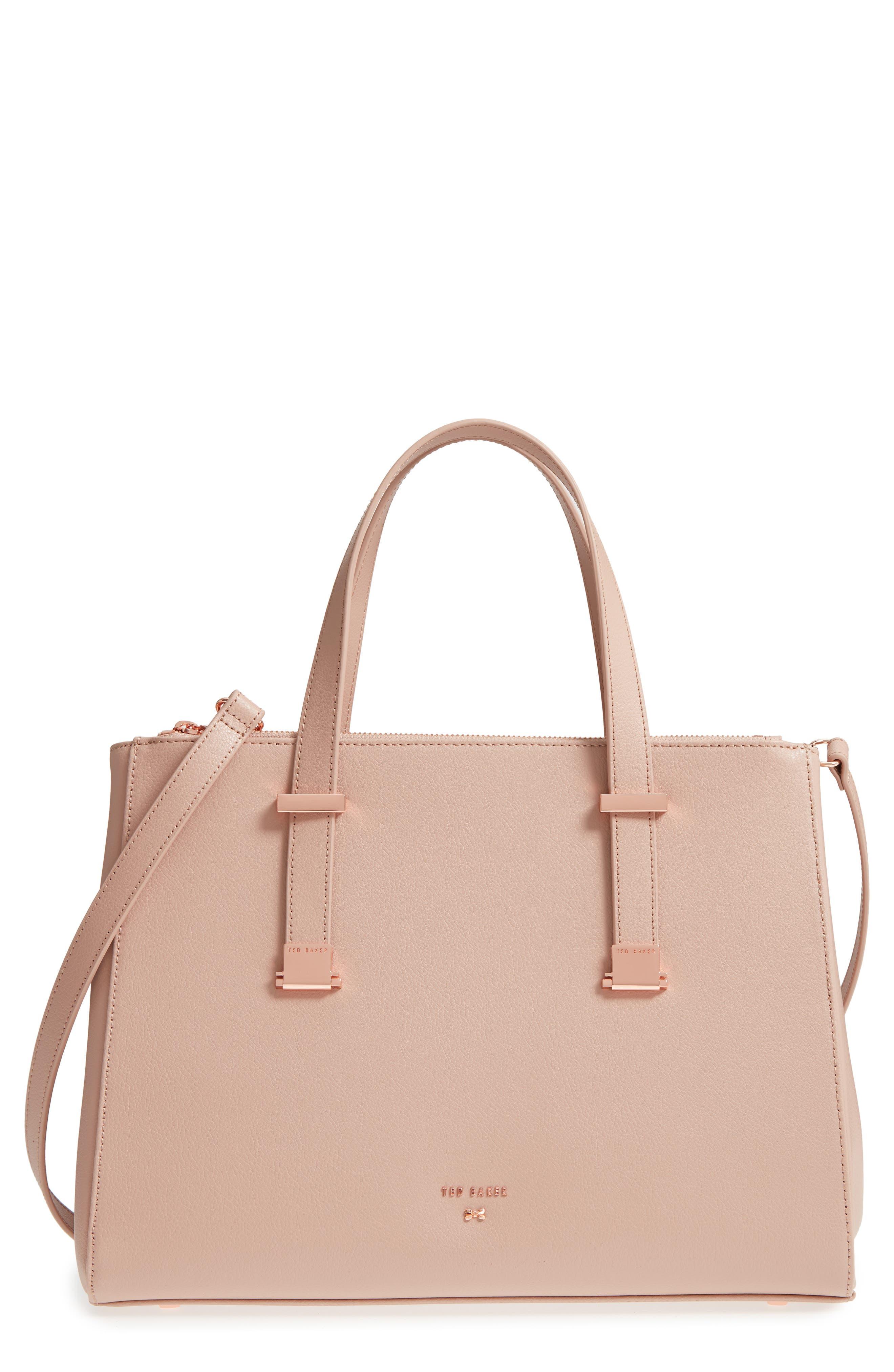 Aminaa Large Adjustable Handle Leather Shopper,                             Main thumbnail 1, color,