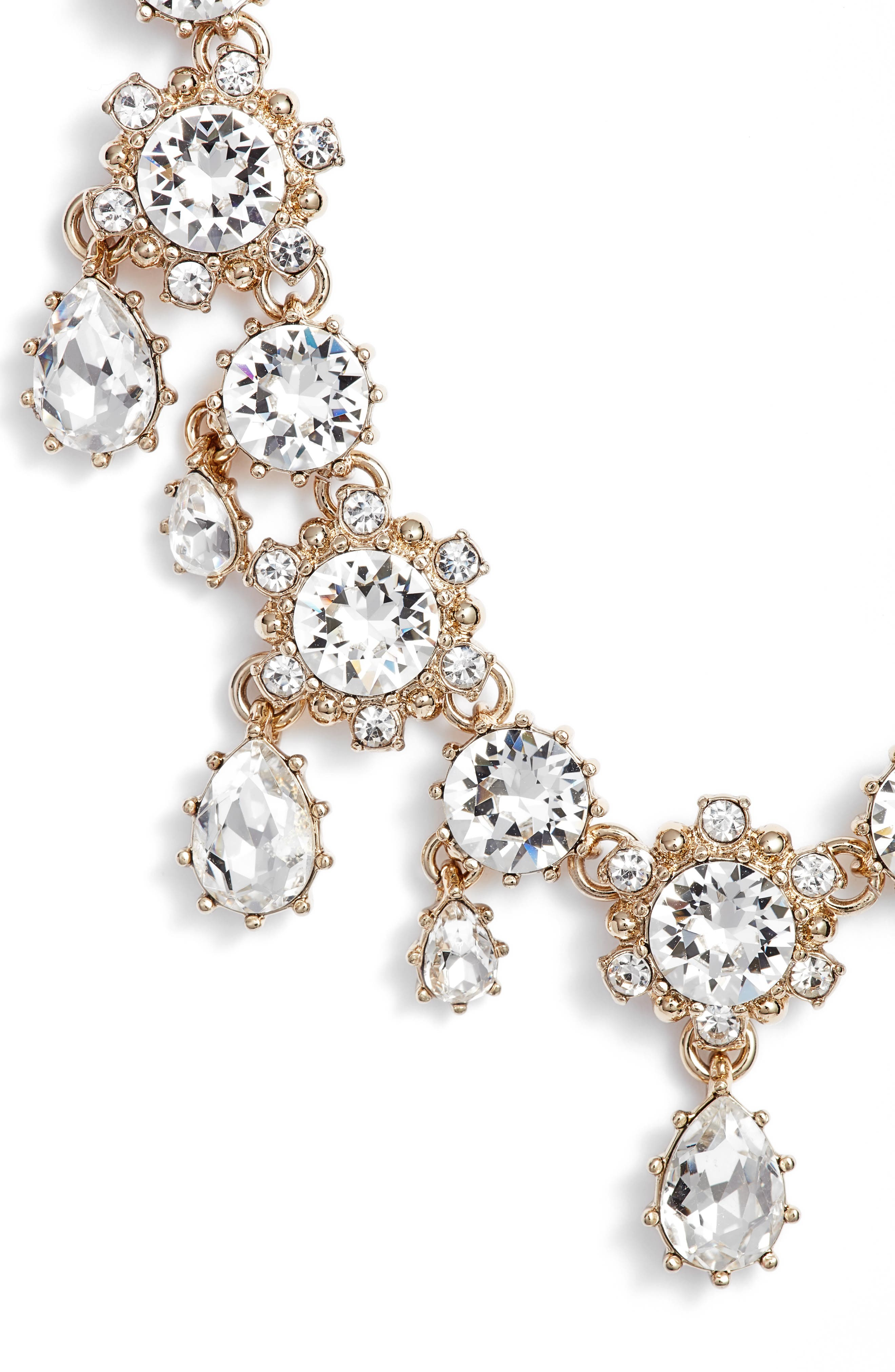 Crystal Drop Necklace,                         Main,                         color, 711