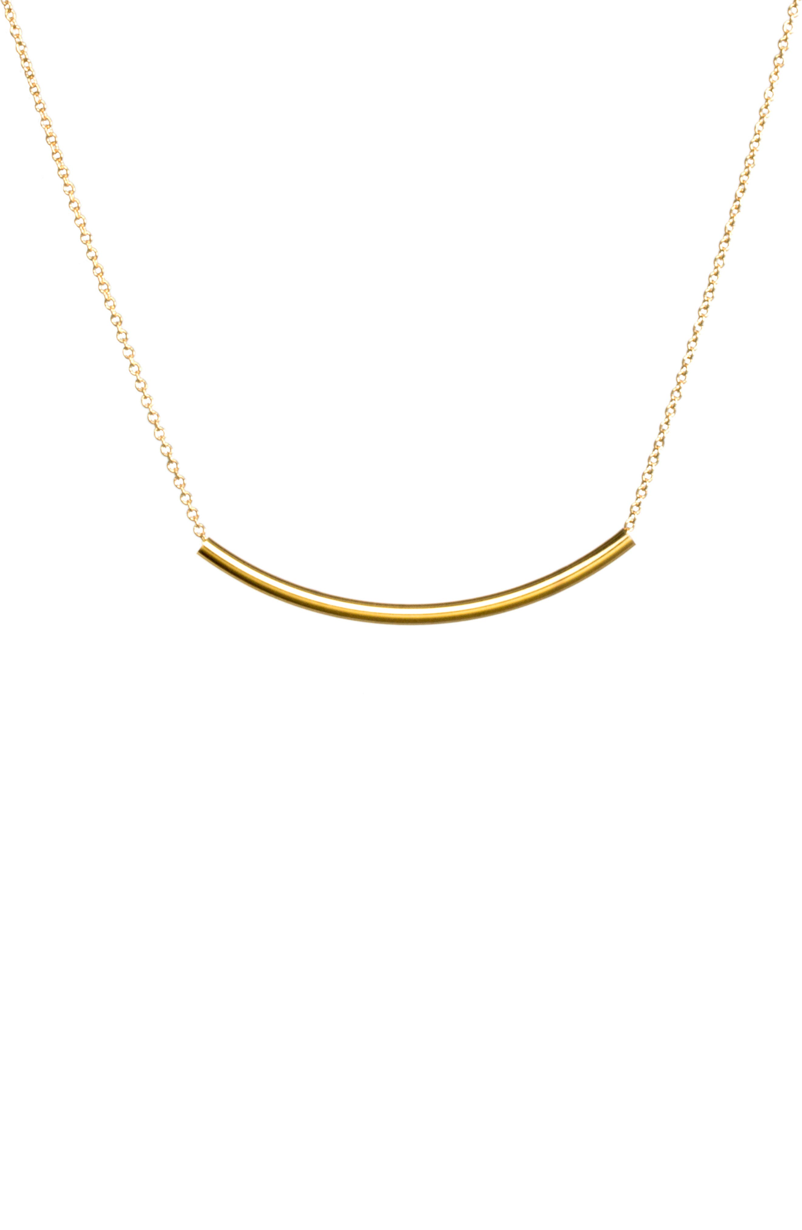Balance Tube Chain Necklace,                             Main thumbnail 2, color,