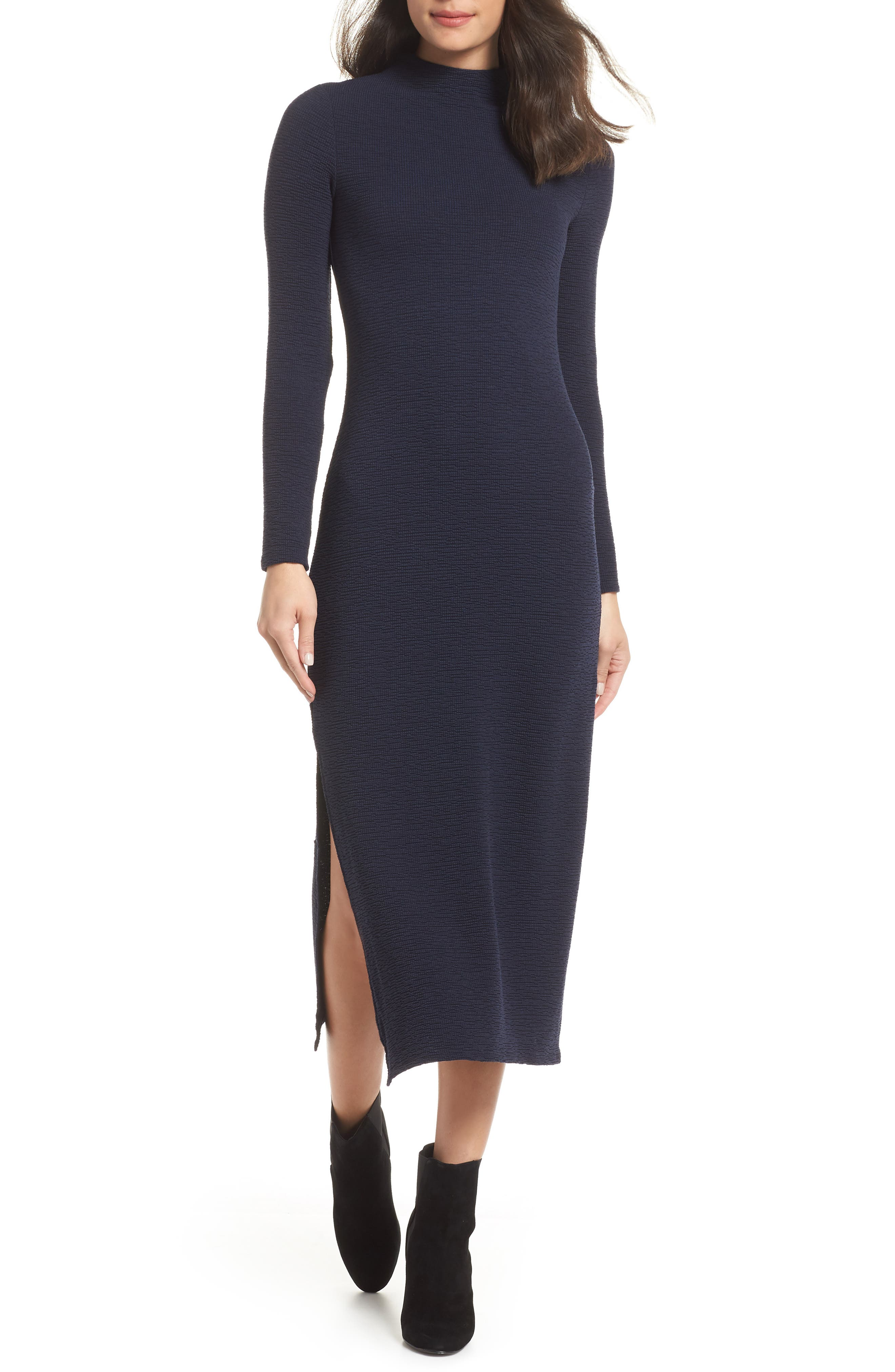 French Connection Petra Jersey Midi Dress, Black