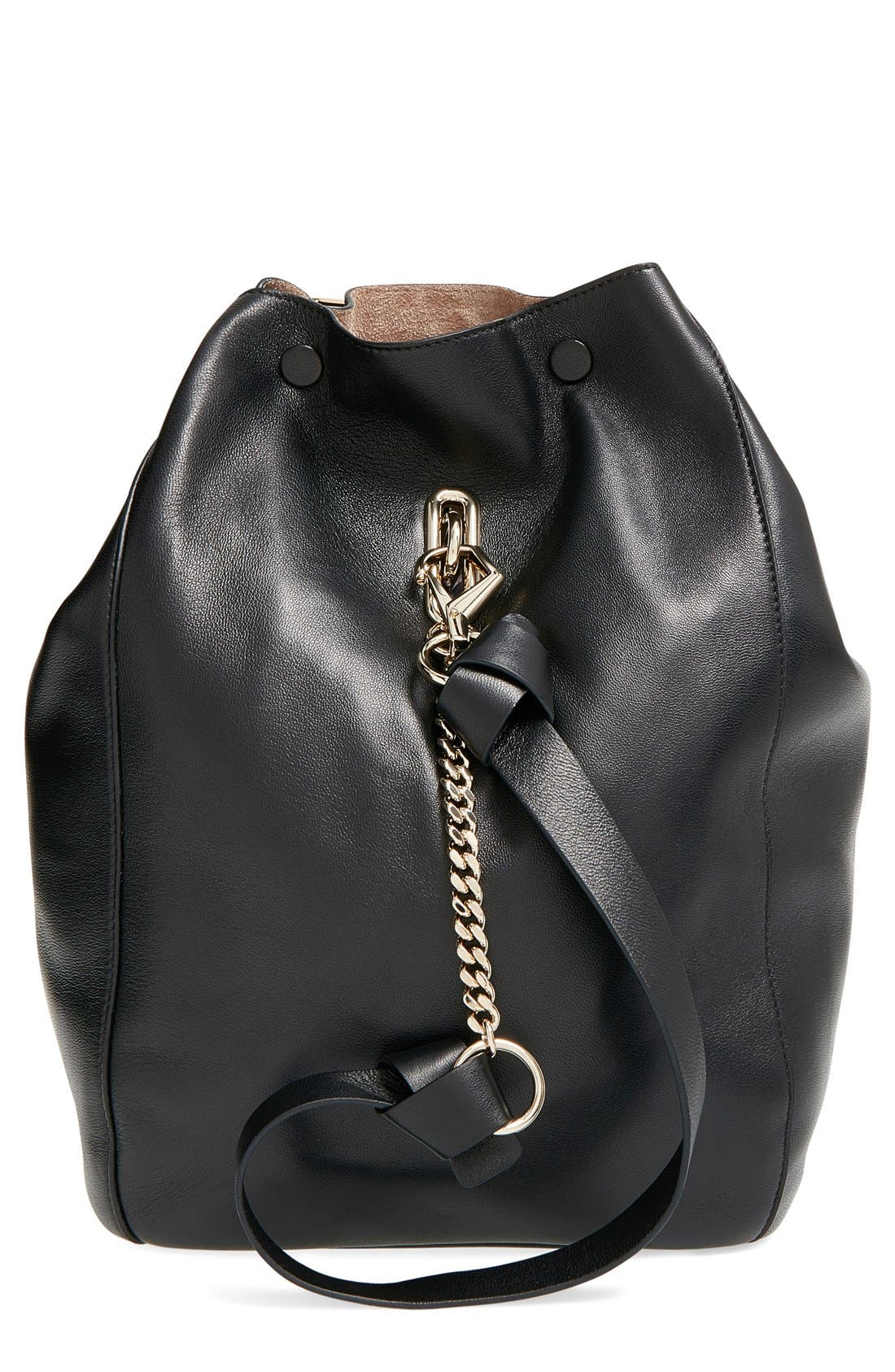 'Echo' Bucket Bag, Main, color, 001