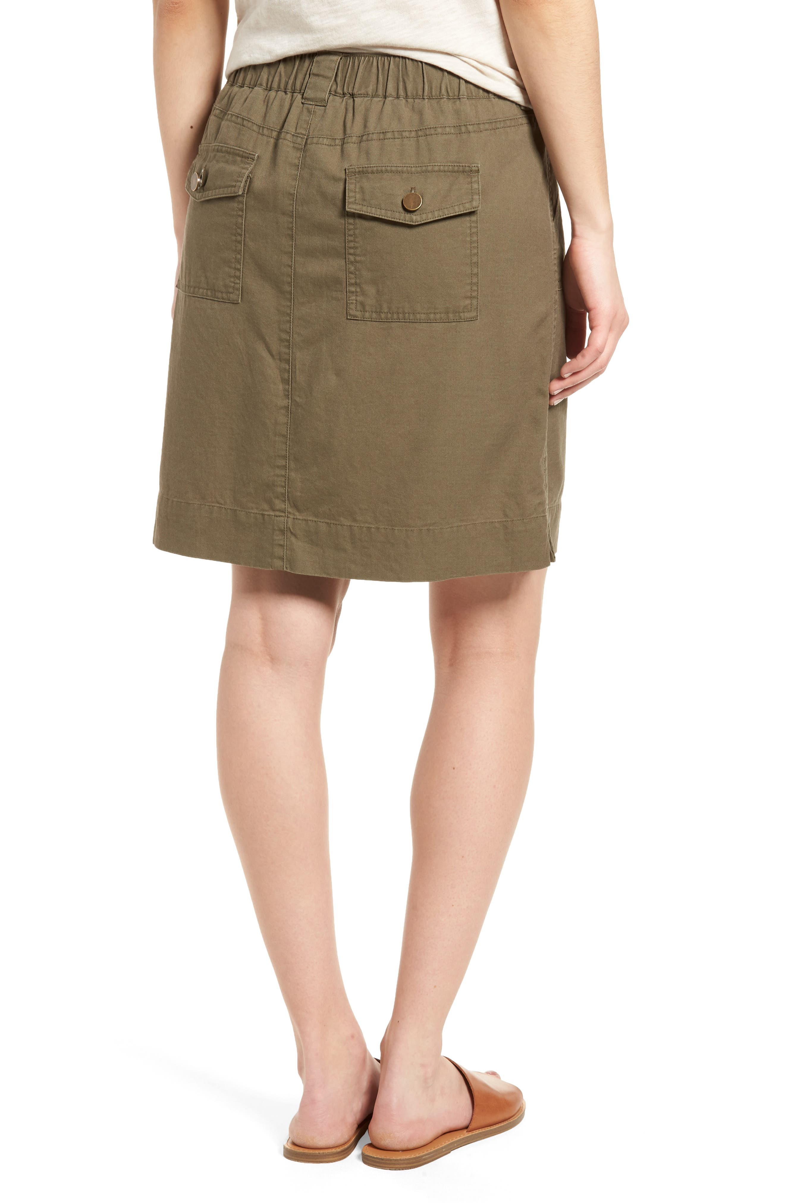 Twill Utility Skirt,                             Alternate thumbnail 3, color,