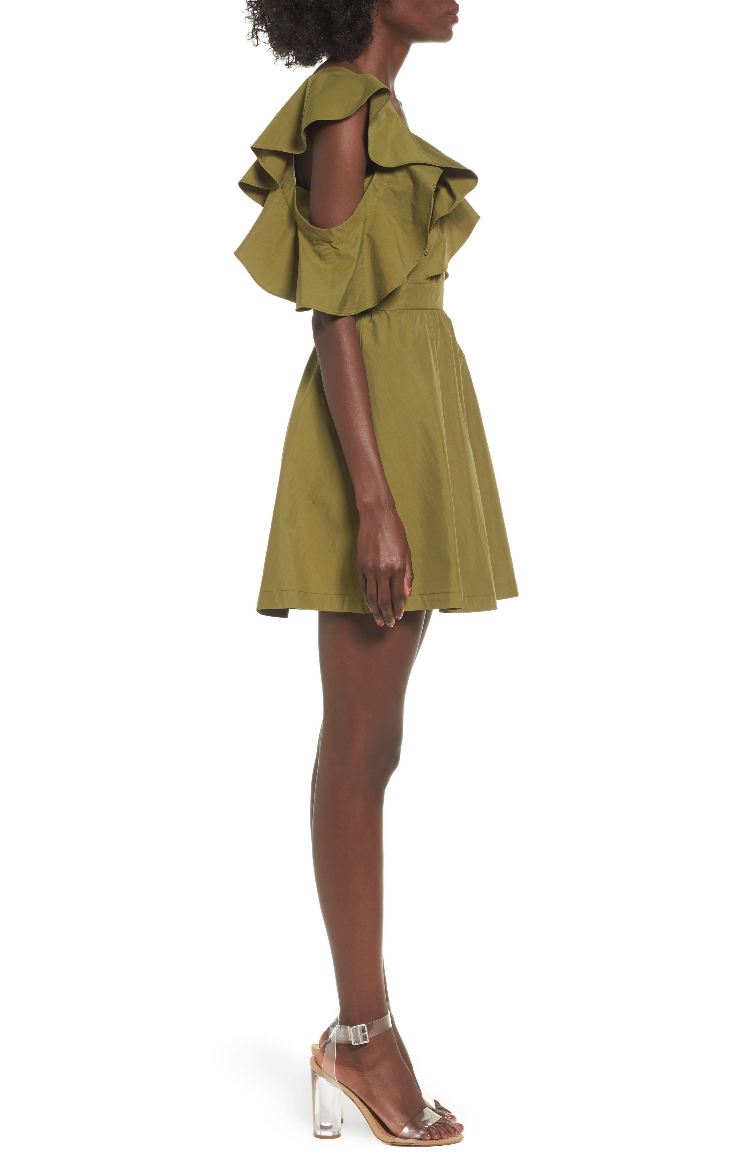 Ruffle Dress,                             Alternate thumbnail 3, color,                             300
